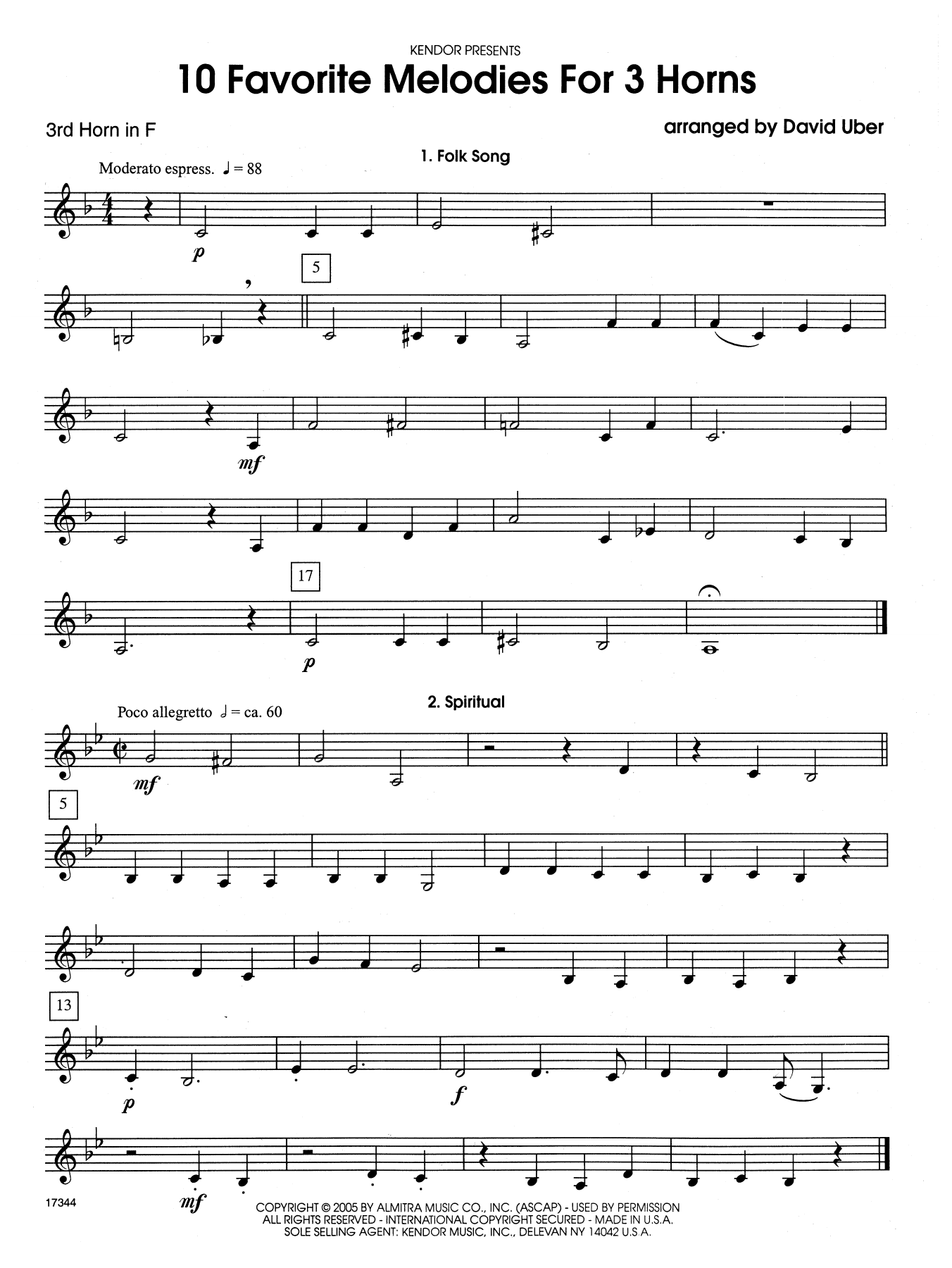 10 Favorite Melodies For 3 Horns Horns Lyrics