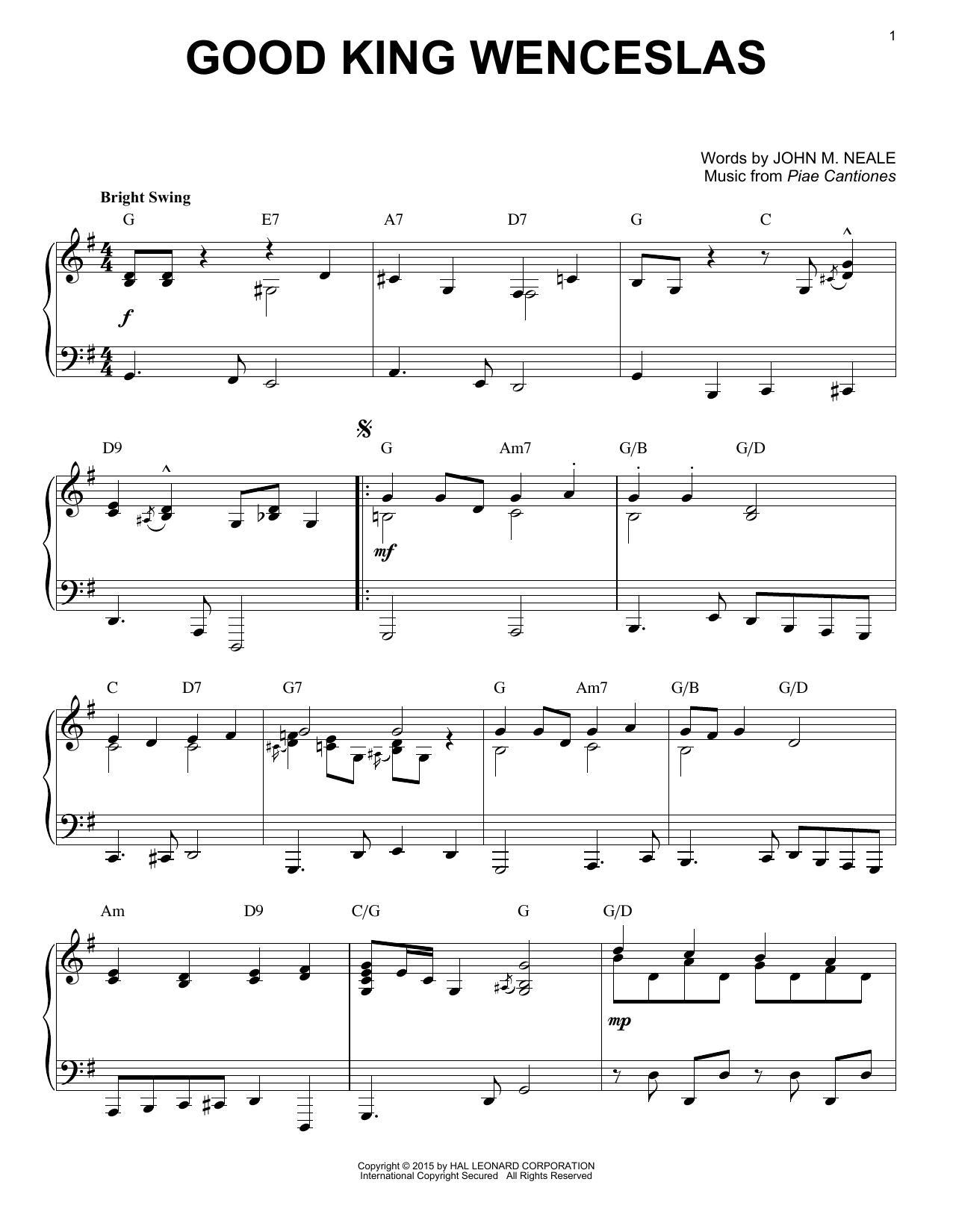 Partition piano Good King Wenceslas de Christmas Carol - Piano Solo