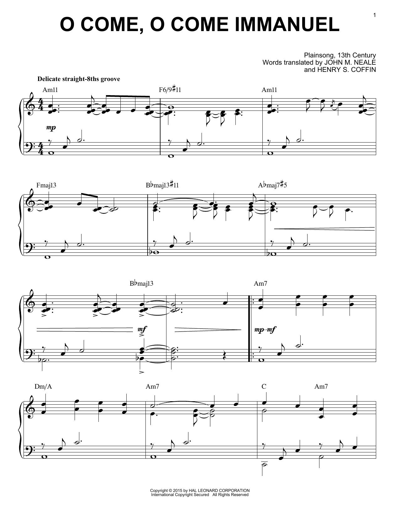 Partition piano O Come, O Come Immanuel de Traditional Carol - Piano Solo
