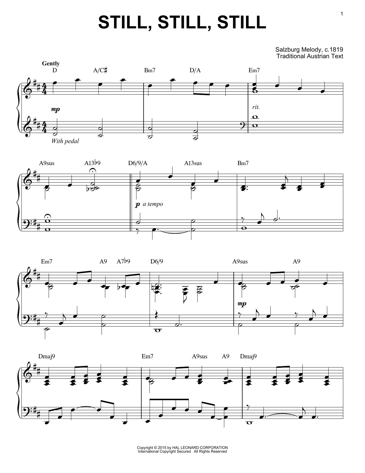 Partition piano Still, Still, Still de Traditional - Piano Solo