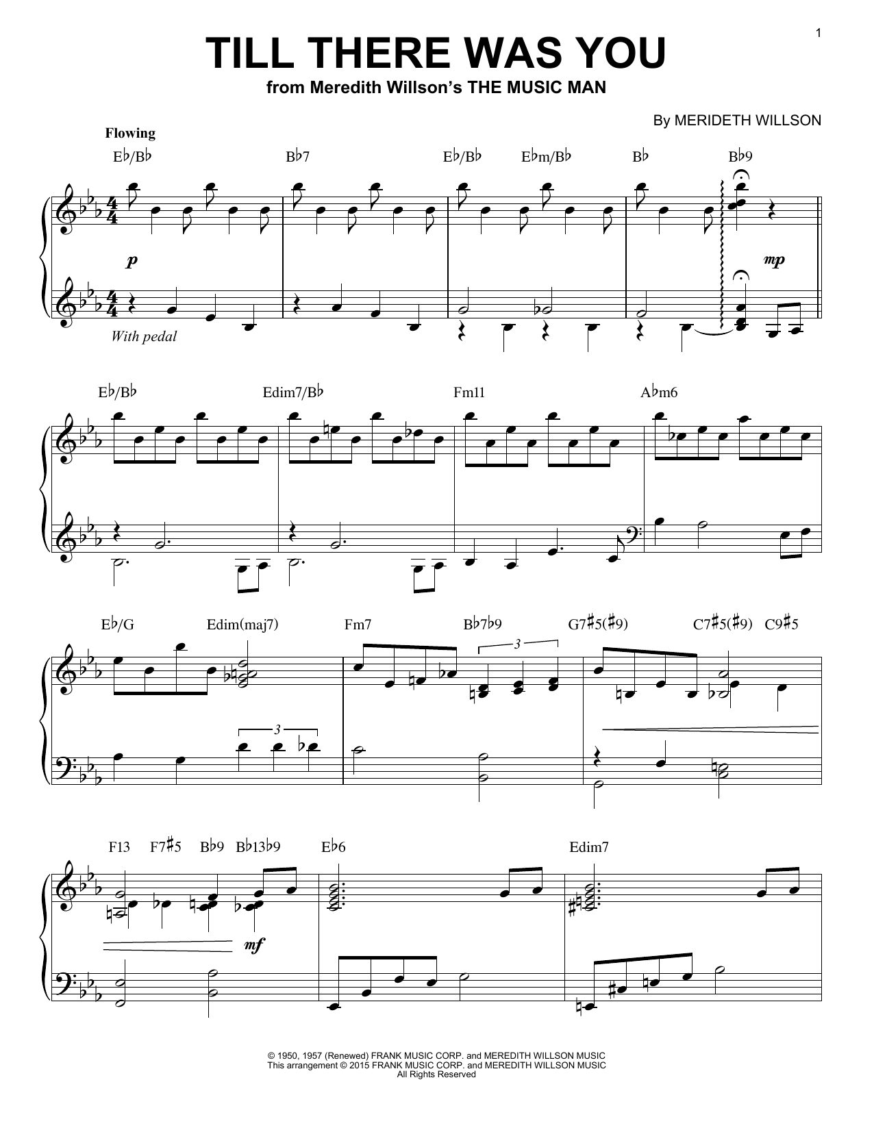Partition piano Till There Was You de The Beatles - Piano Solo