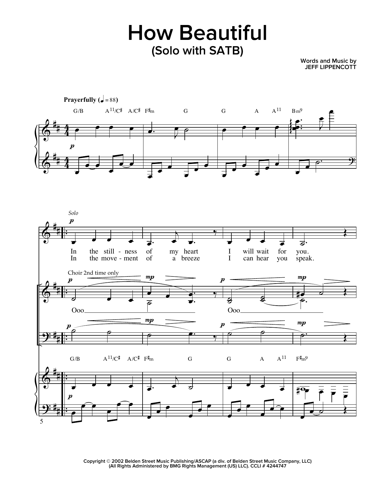 Partition chorale How Beautiful de Jeff Lippencott - SATB