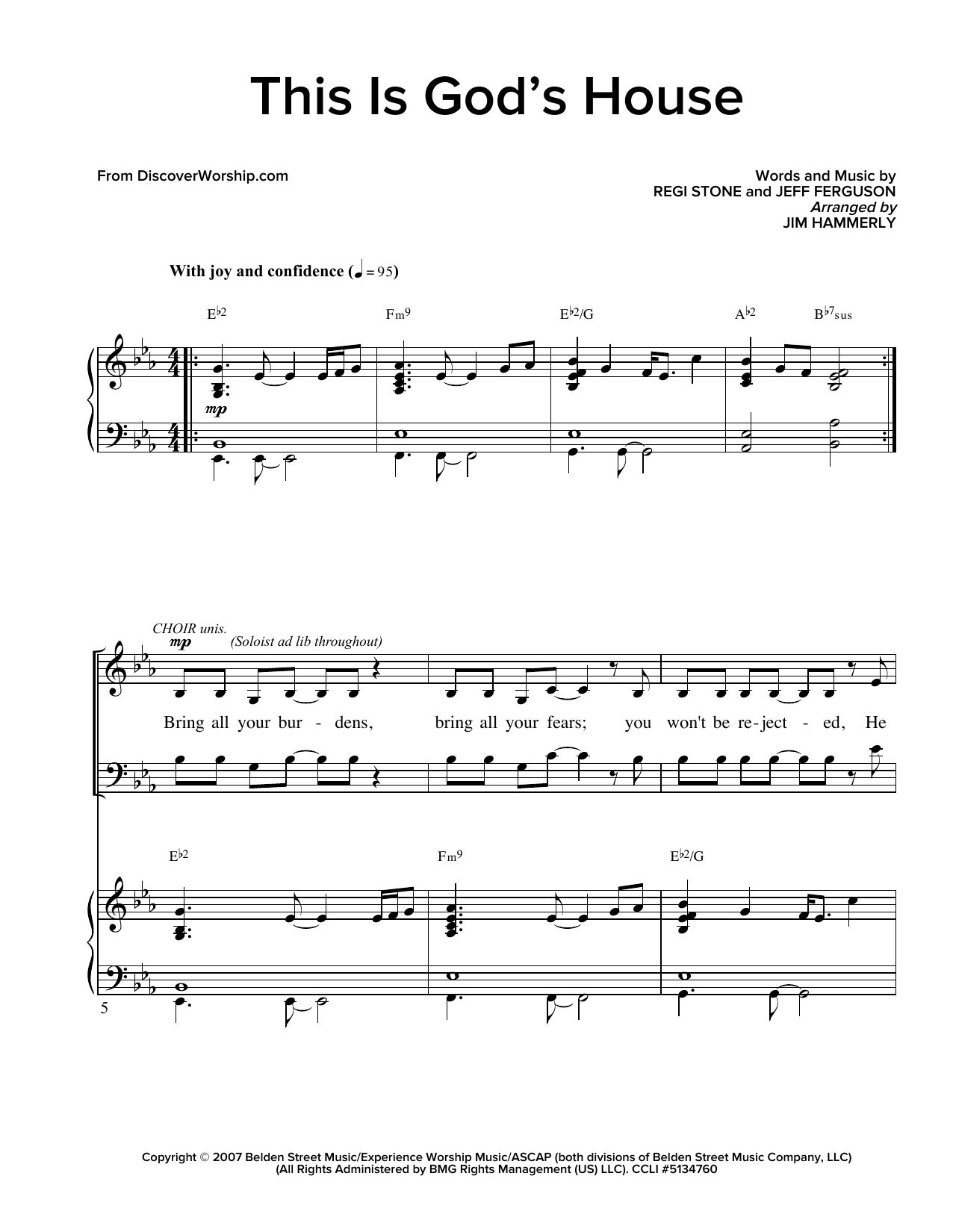Partition chorale This Is God's House de  - SATB