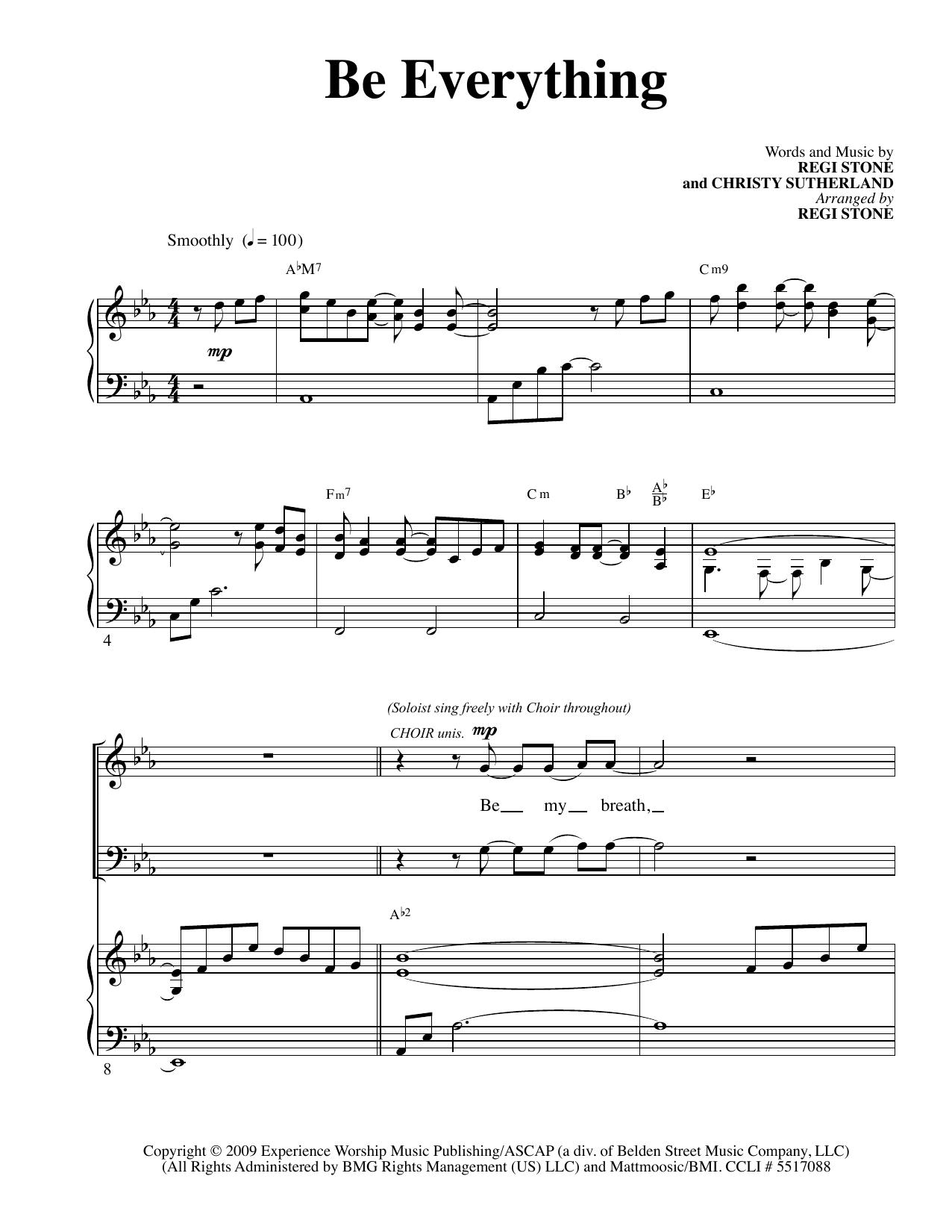 Partition chorale Be Everything de Regi Stone - SATB