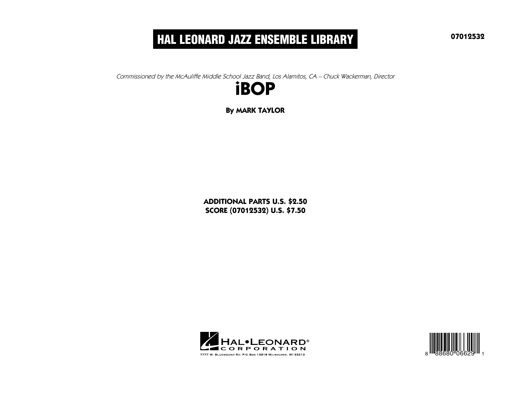 iBop (COMPLETE) sheet music for jazz band by Mark Taylor