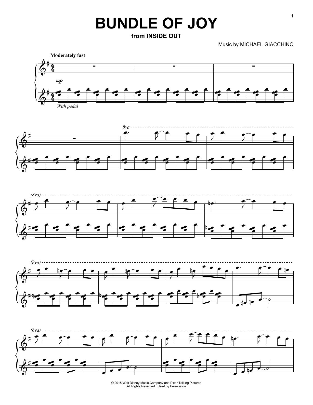 Partition piano Bundle Of Joy de Michael Giacchino - Piano Solo