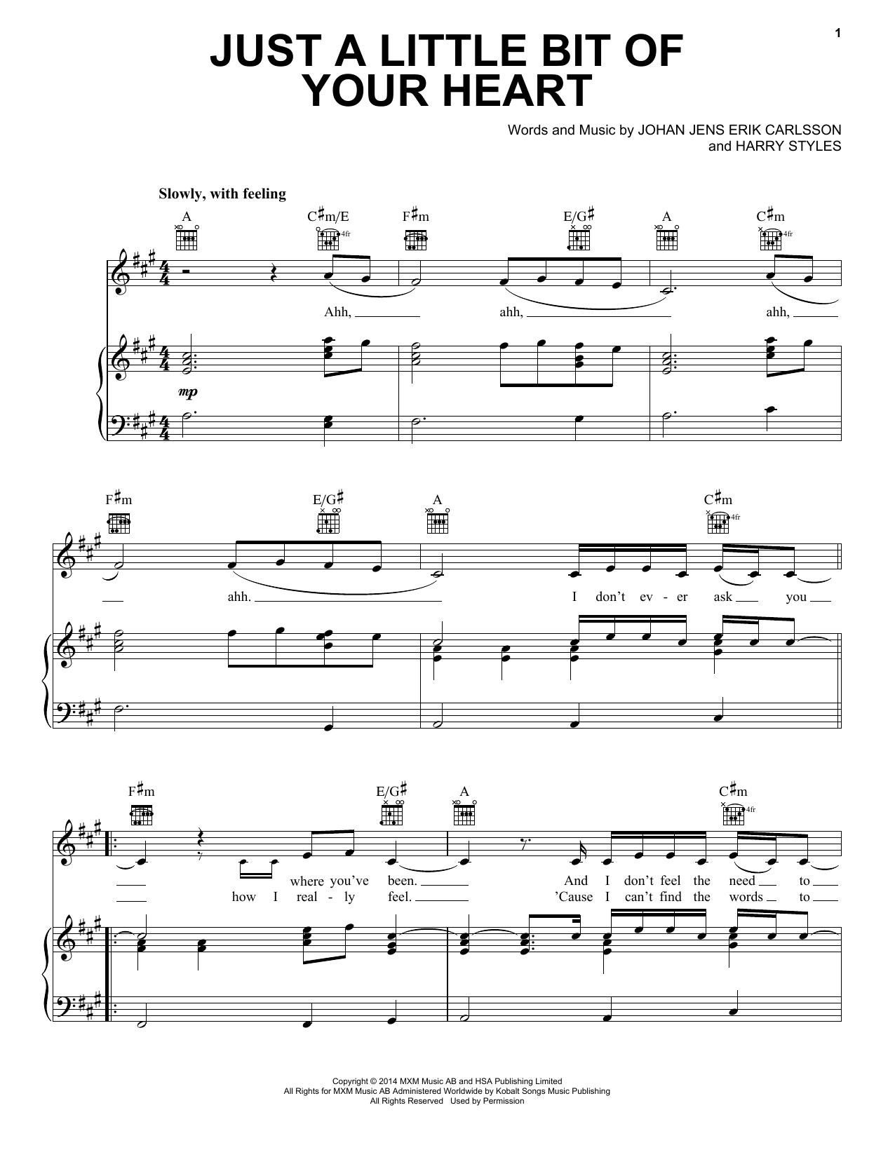 Partition piano Just A Little Bit Of Your Heart de Ariana Grande - Piano Voix Guitare (Mélodie Main Droite)