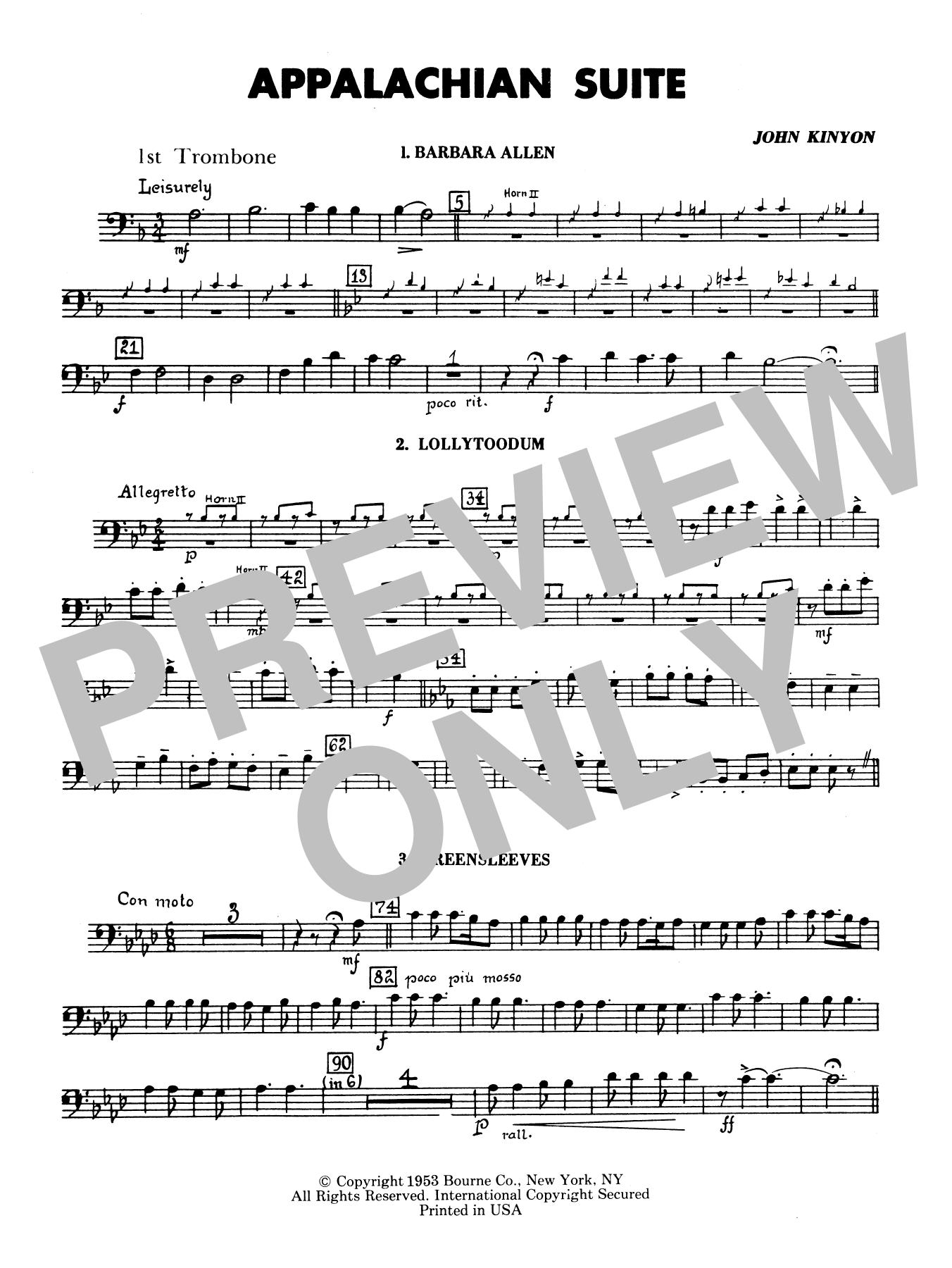 Appalachian Suite - 1st Trombone