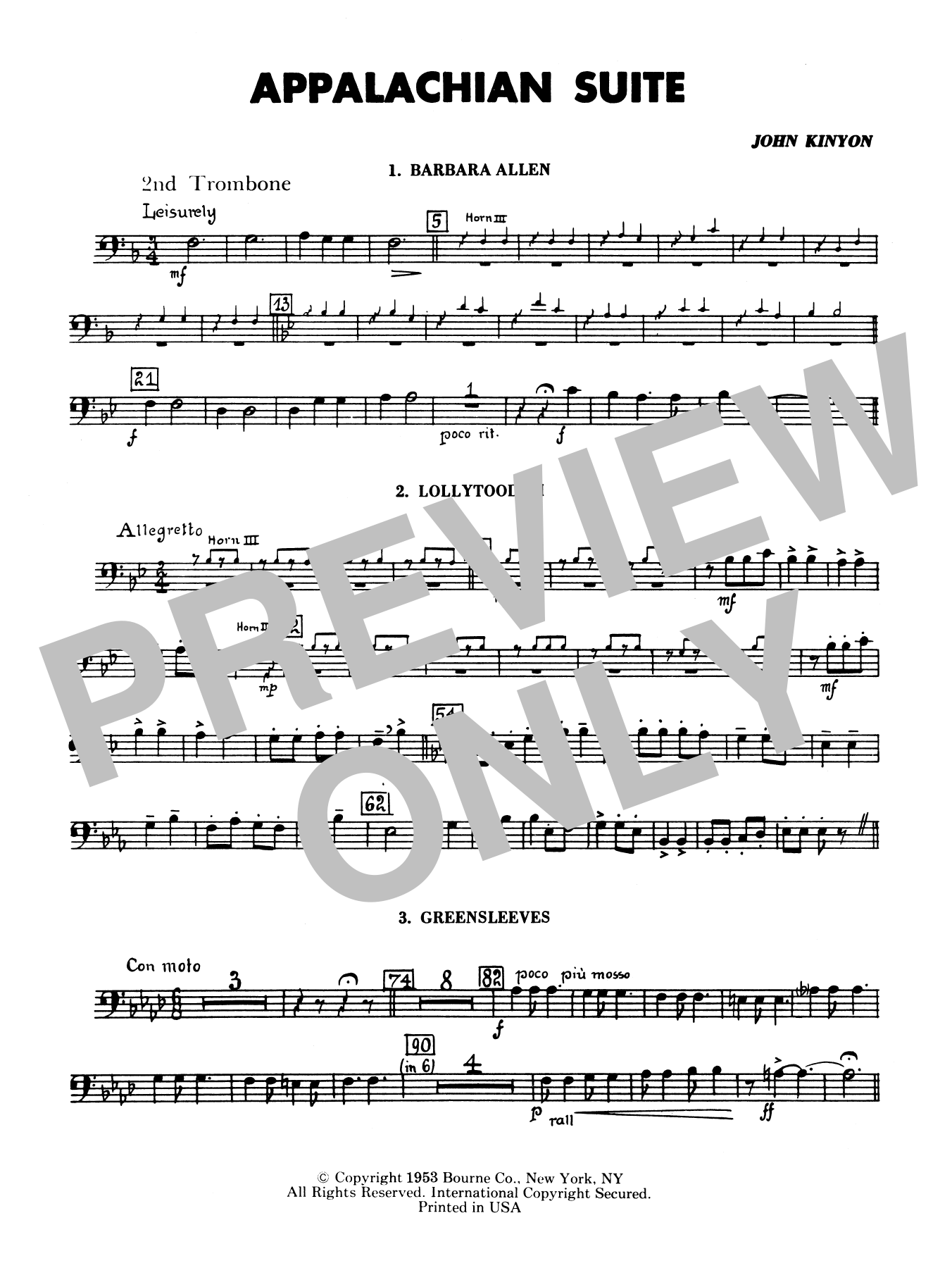 Appalachian Suite - 2nd Trombone