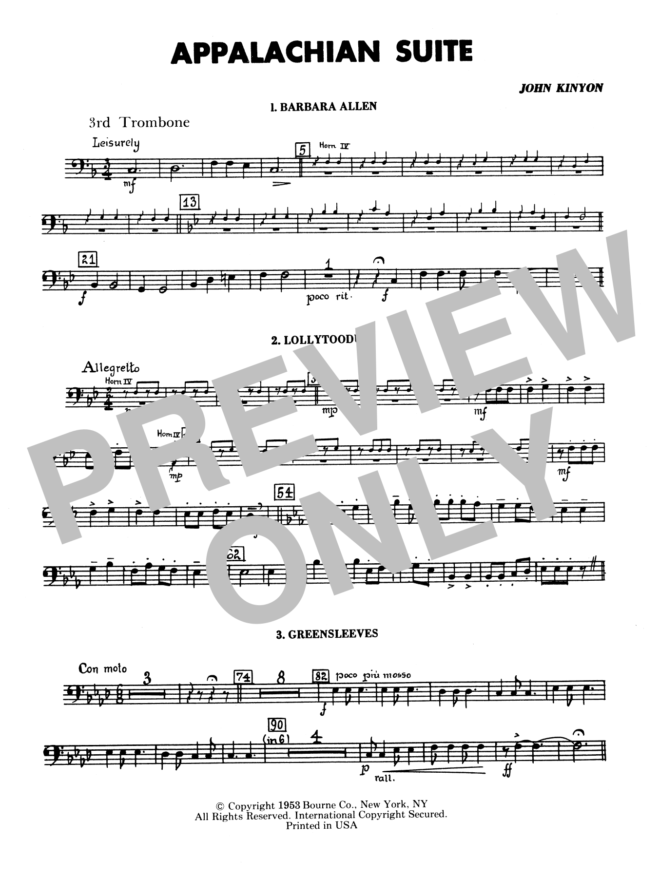 Appalachian Suite - 3rd Trombone