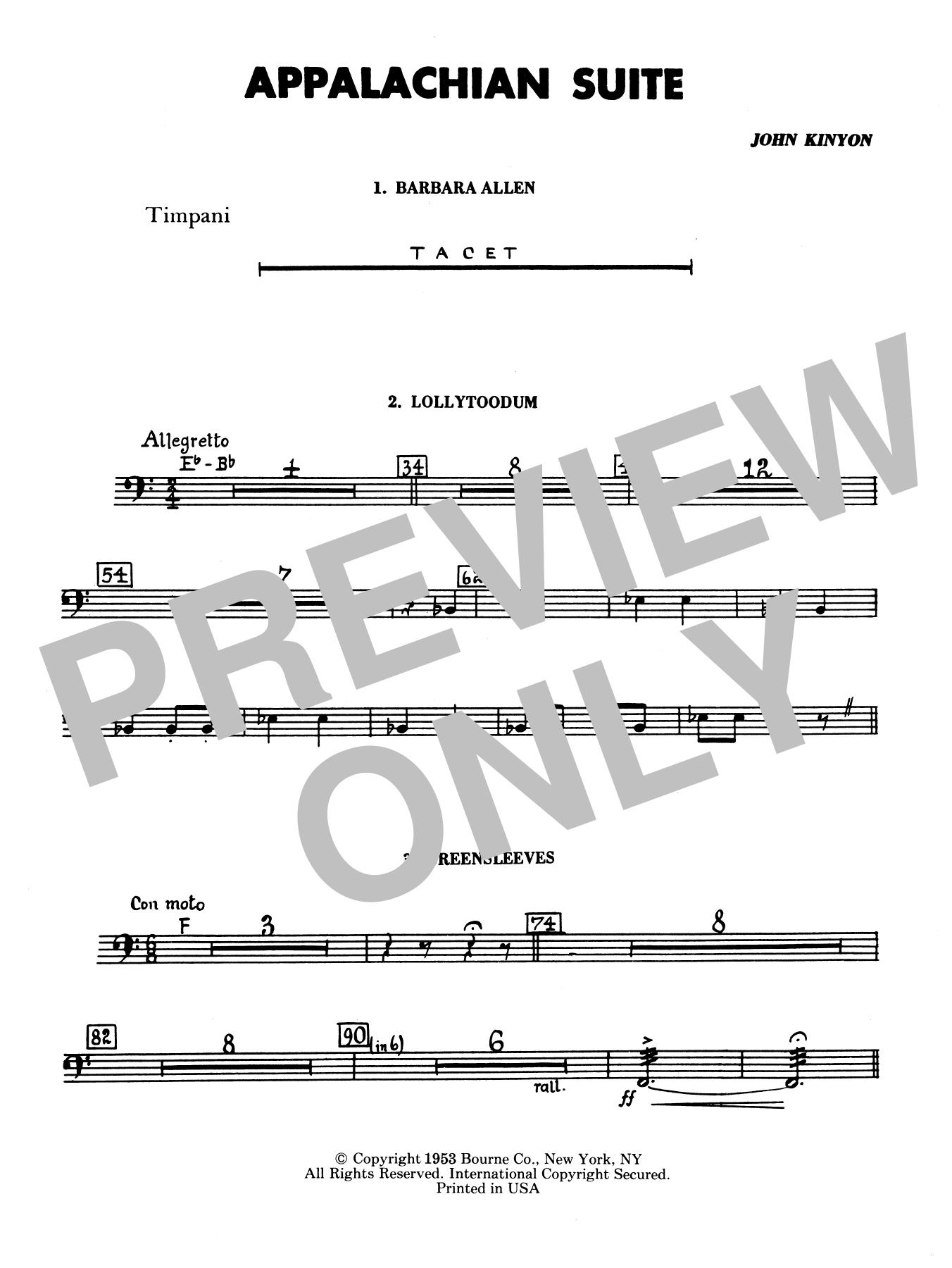 Appalachian Suite - Timpani