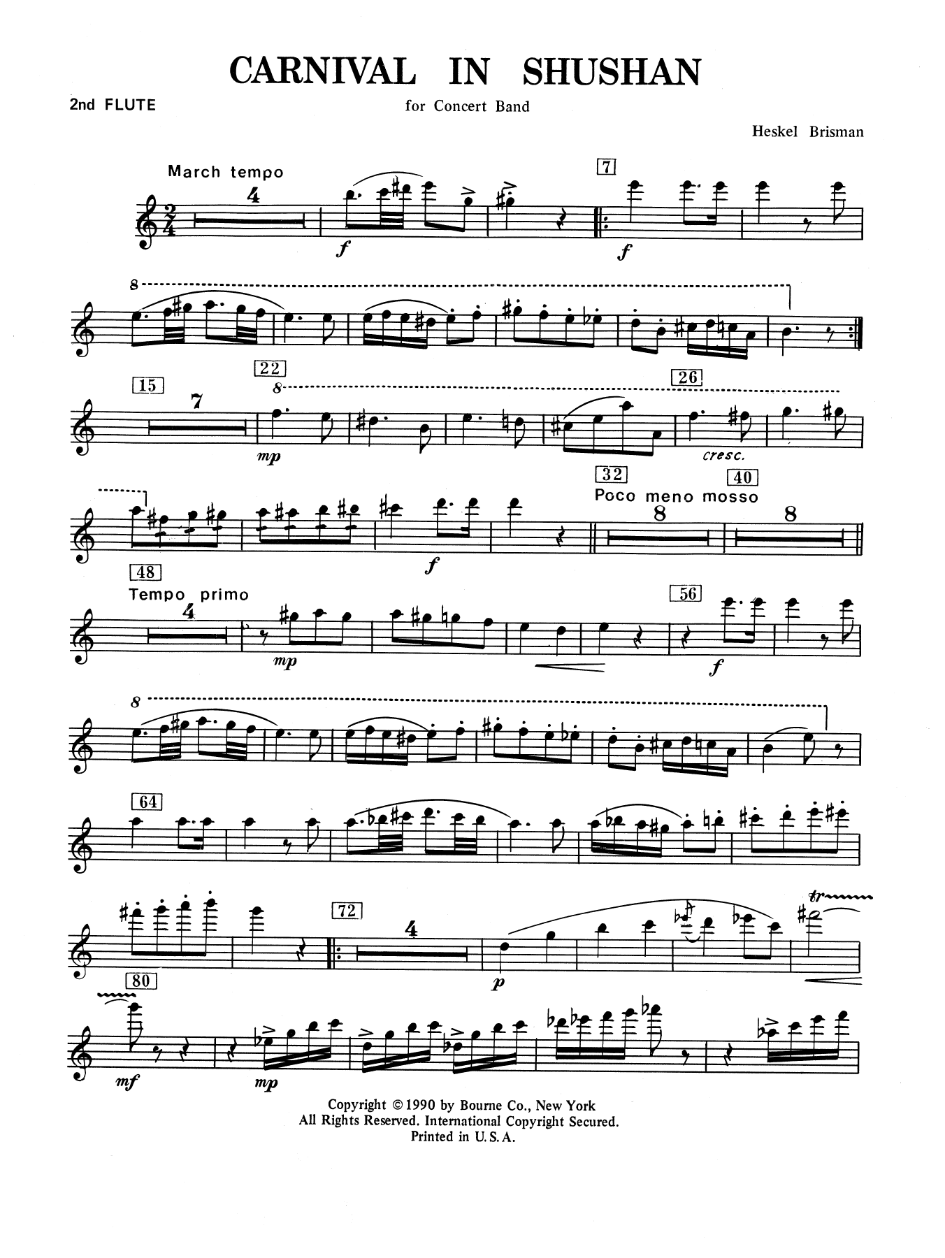 Carnival In Shushan - 2nd Flute