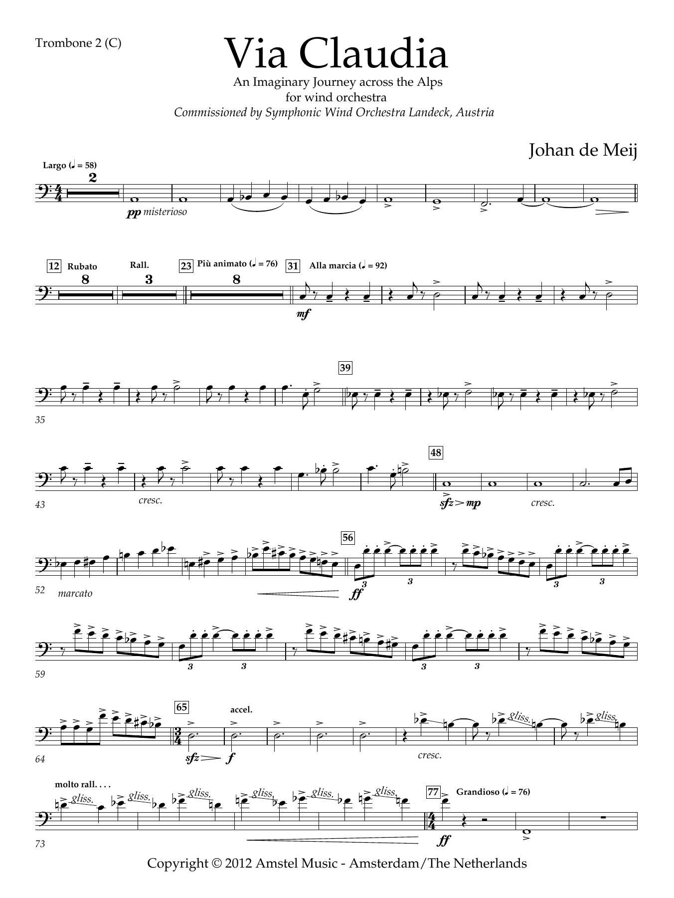 Via Claudia - Trombone 2 (C)