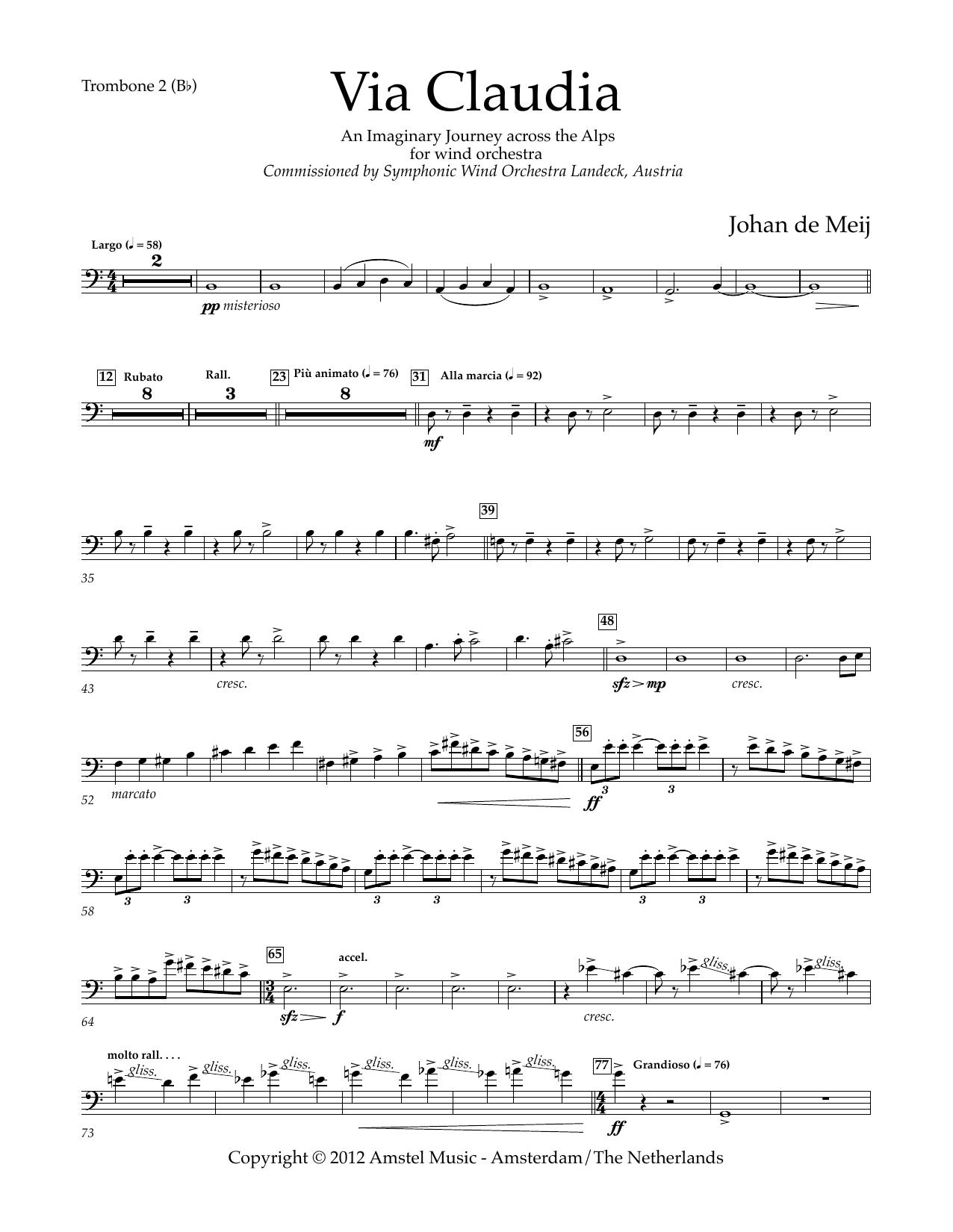 Via Claudia - Bb Trombone 2 B.C.