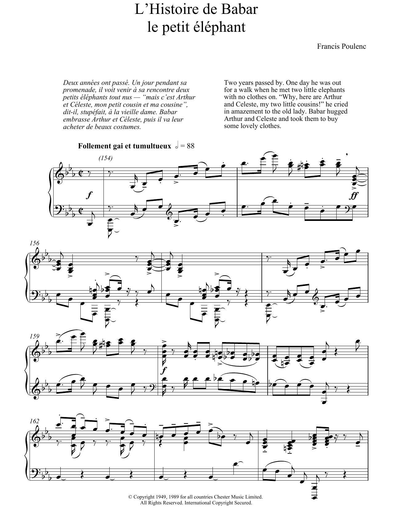 Francis Poulenc - L'Histoire De Babar