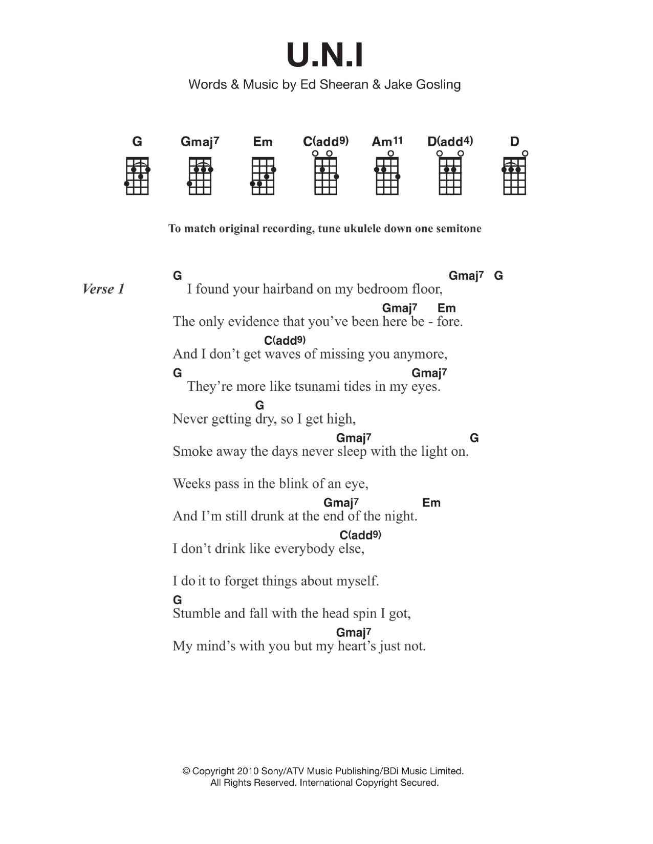 Ed sheeran uni sheet music at stantons sheet music ed sheeran uni hexwebz Choice Image