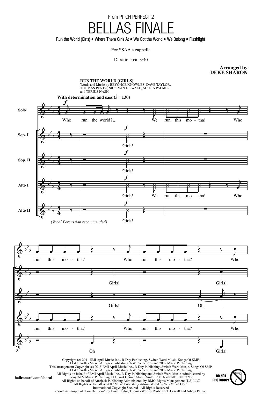Partition chorale Run The World (Girls) de Beyoncé - SSA