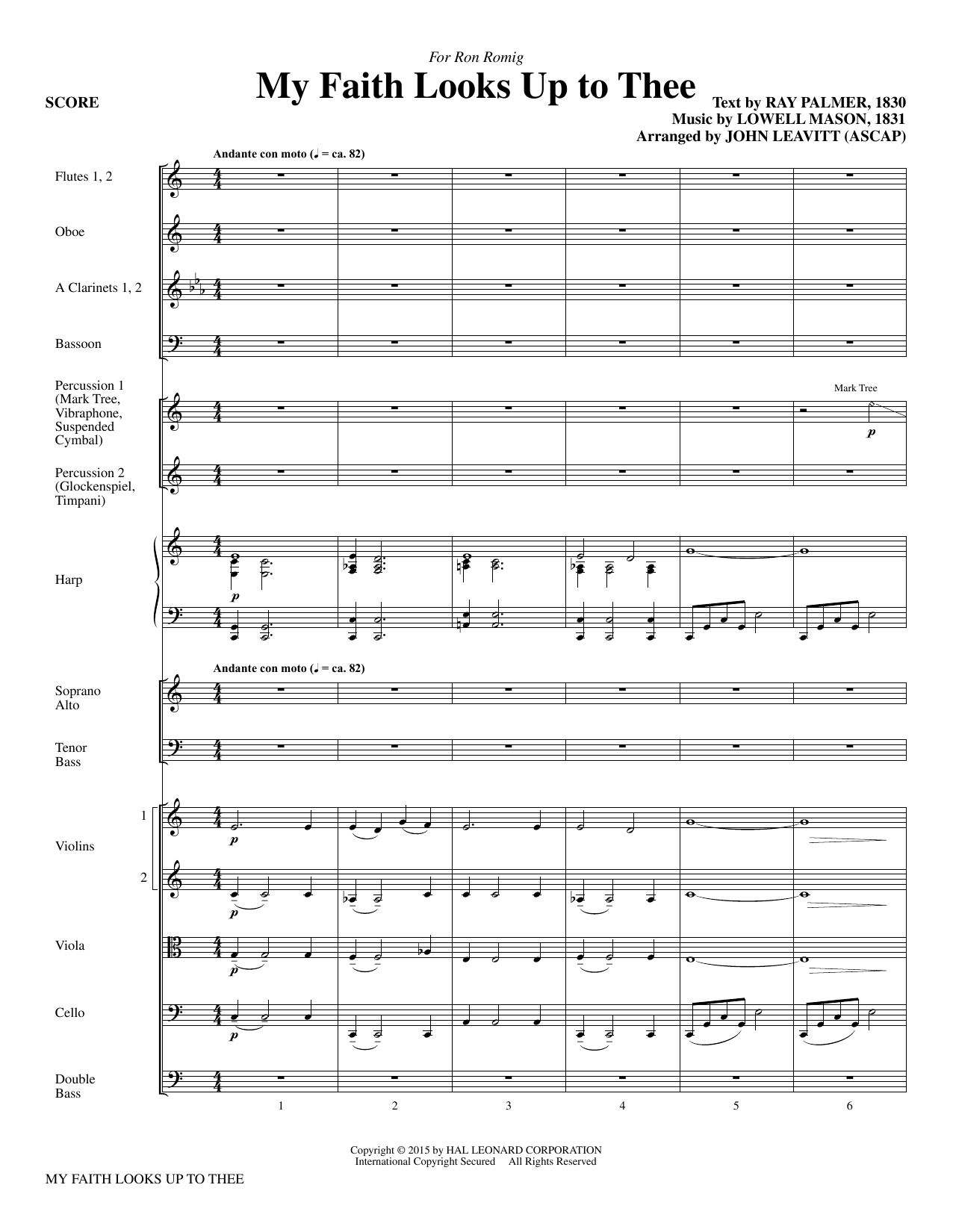 My Faith Looks Up To Thee (COMPLETE) sheet music for orchestra/band by John Leavitt