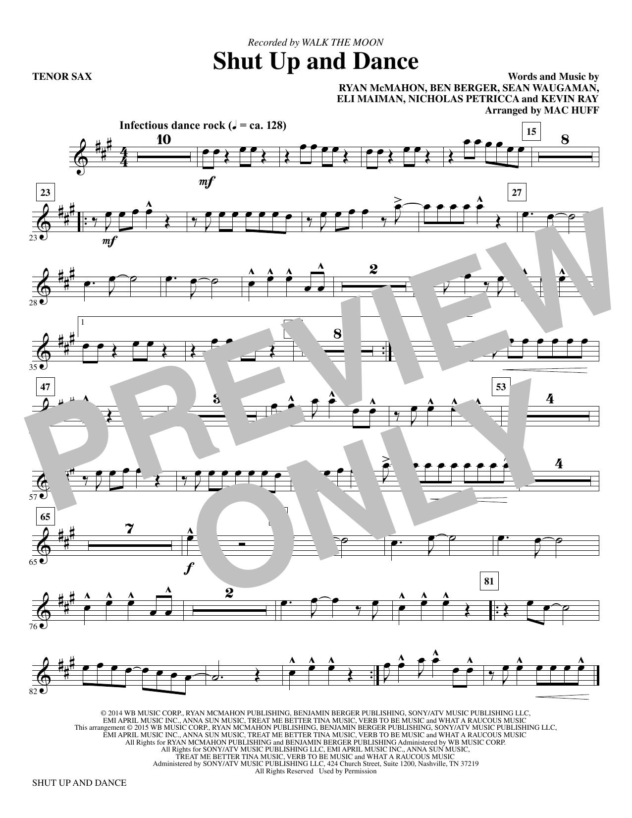 Walk The Moon - Shut Up and Dance - Bb Tenor Saxophone