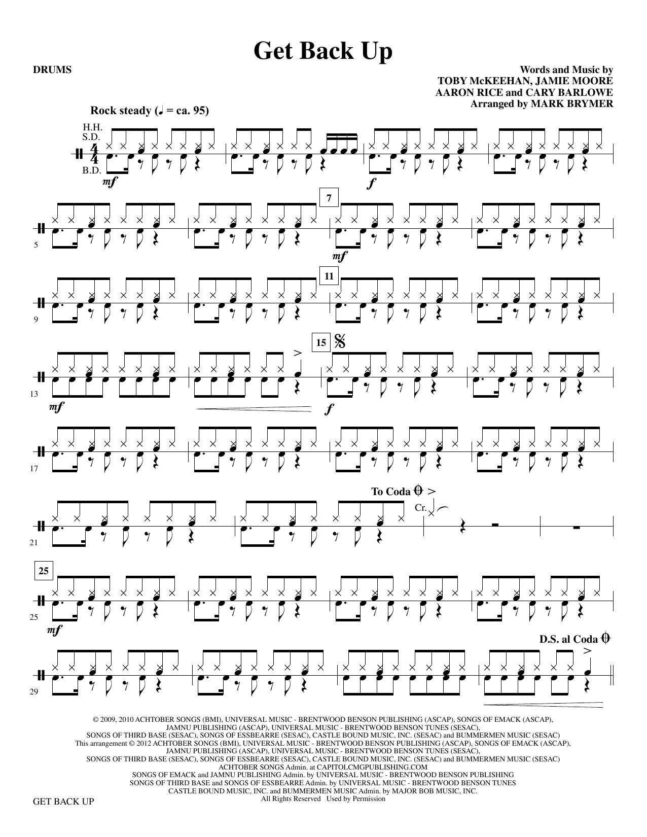 tobyMac - Get Back Up - Drums