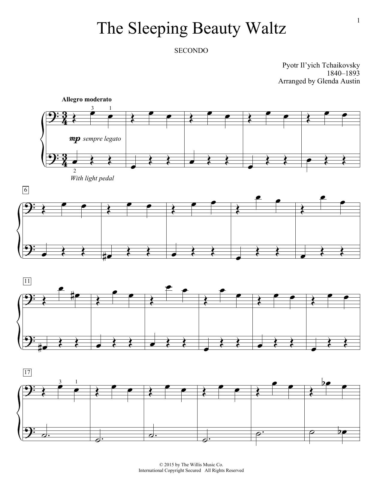 Partition piano The Sleeping Beauty Waltz de Glenda Austin - 4 mains