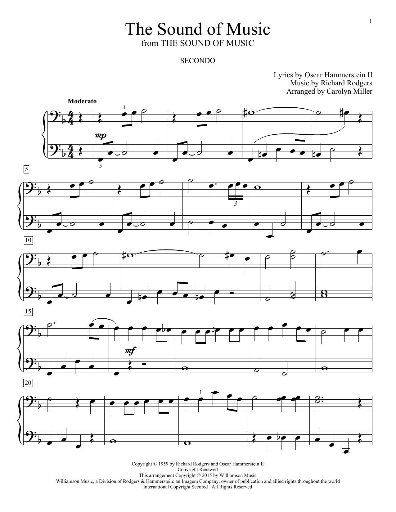 Partition piano The Sound Of Music de Glenda Austin - 4 mains