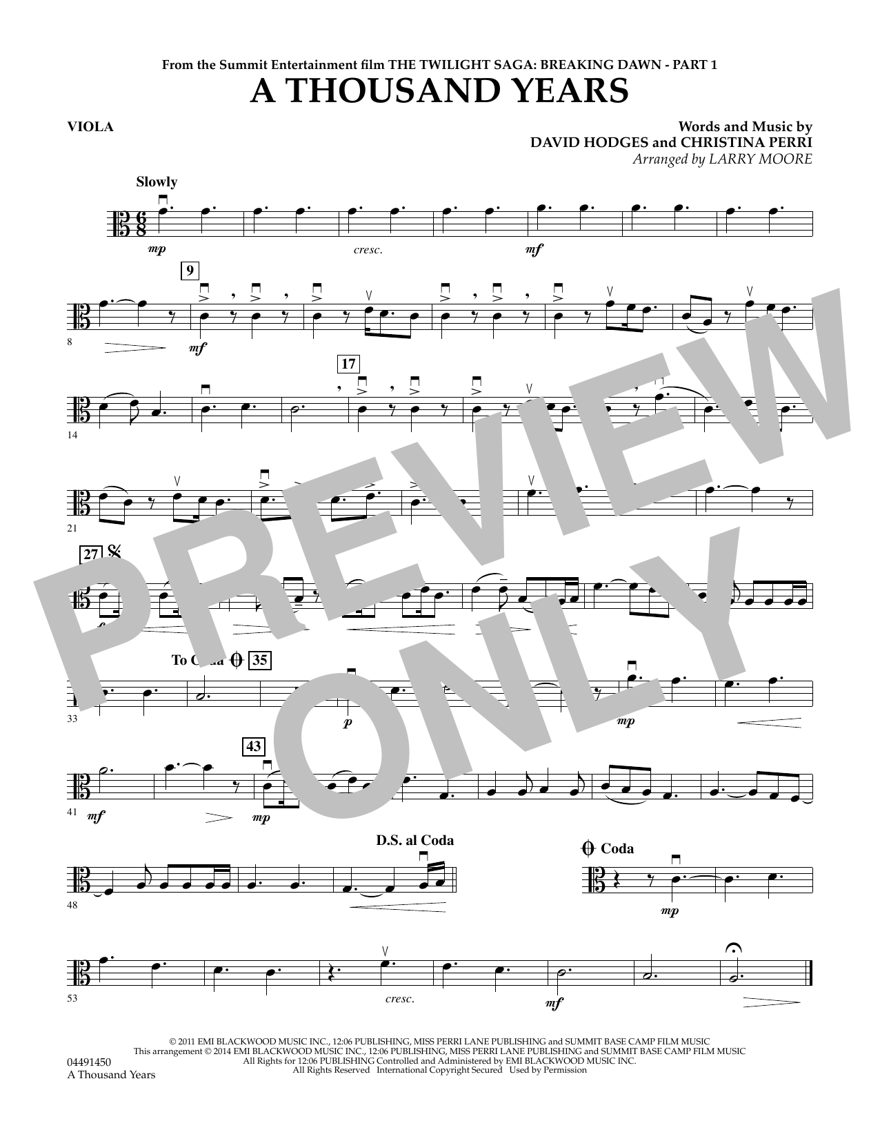 A thousand years viola sheet music at stantons sheet music hexwebz Image collections