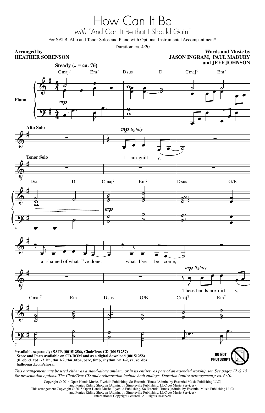 Partition chorale How Can I Be/ And Can It Be That I Should Gain (arr. Heather Sorenson) de  - SATB