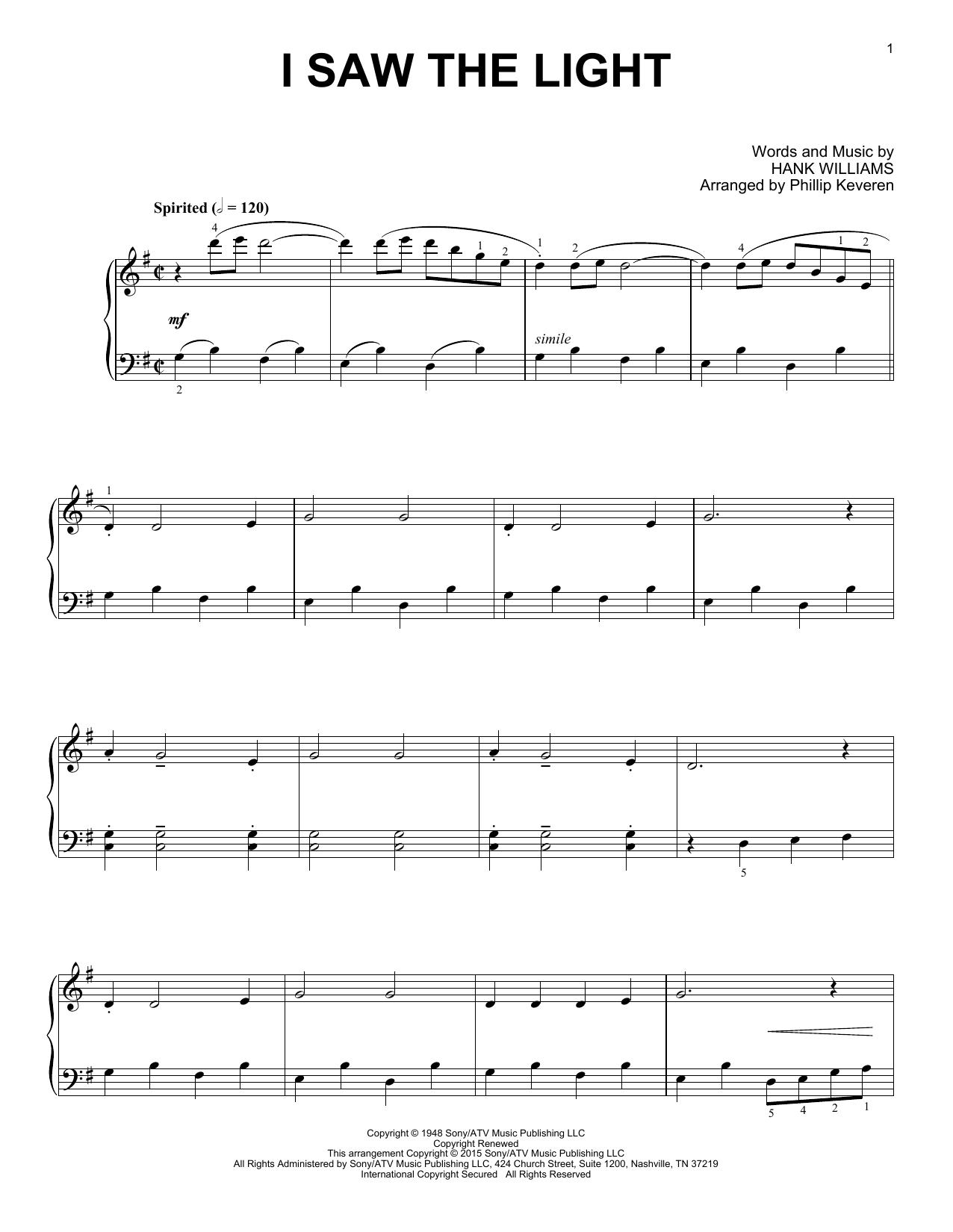 Partition piano I Saw The Light de Phillip Keveren - Piano Solo