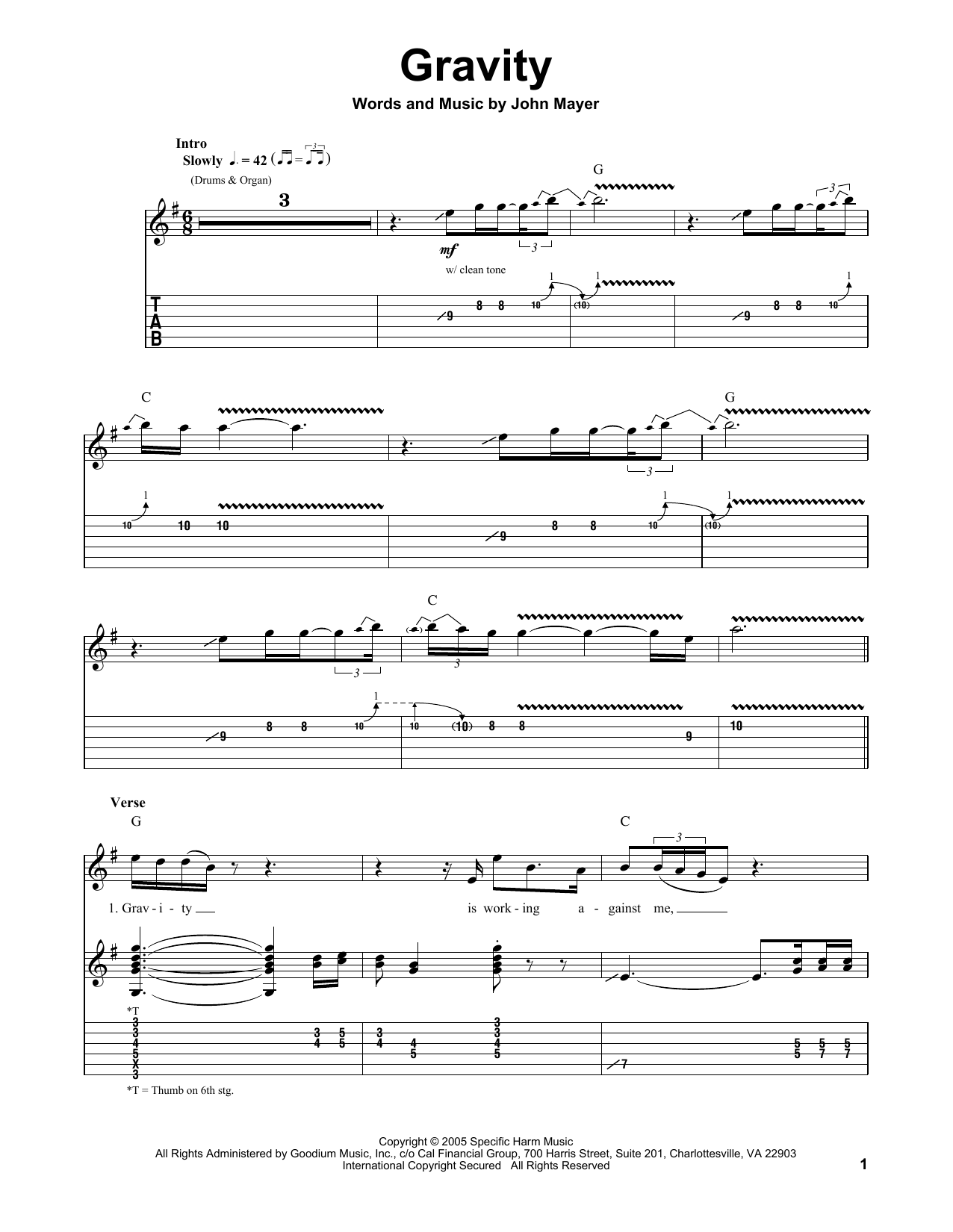 Gravity by John Mayer - Guitar Tab Play-Along - Guitar Instructor