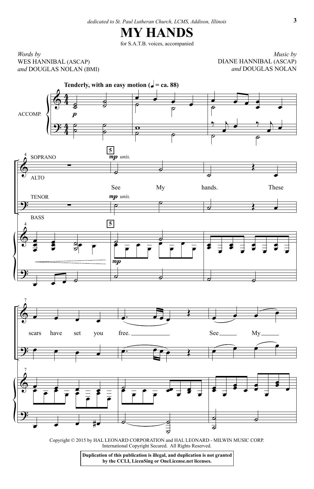 Partition chorale My Hands de Douglas Nolan - SATB