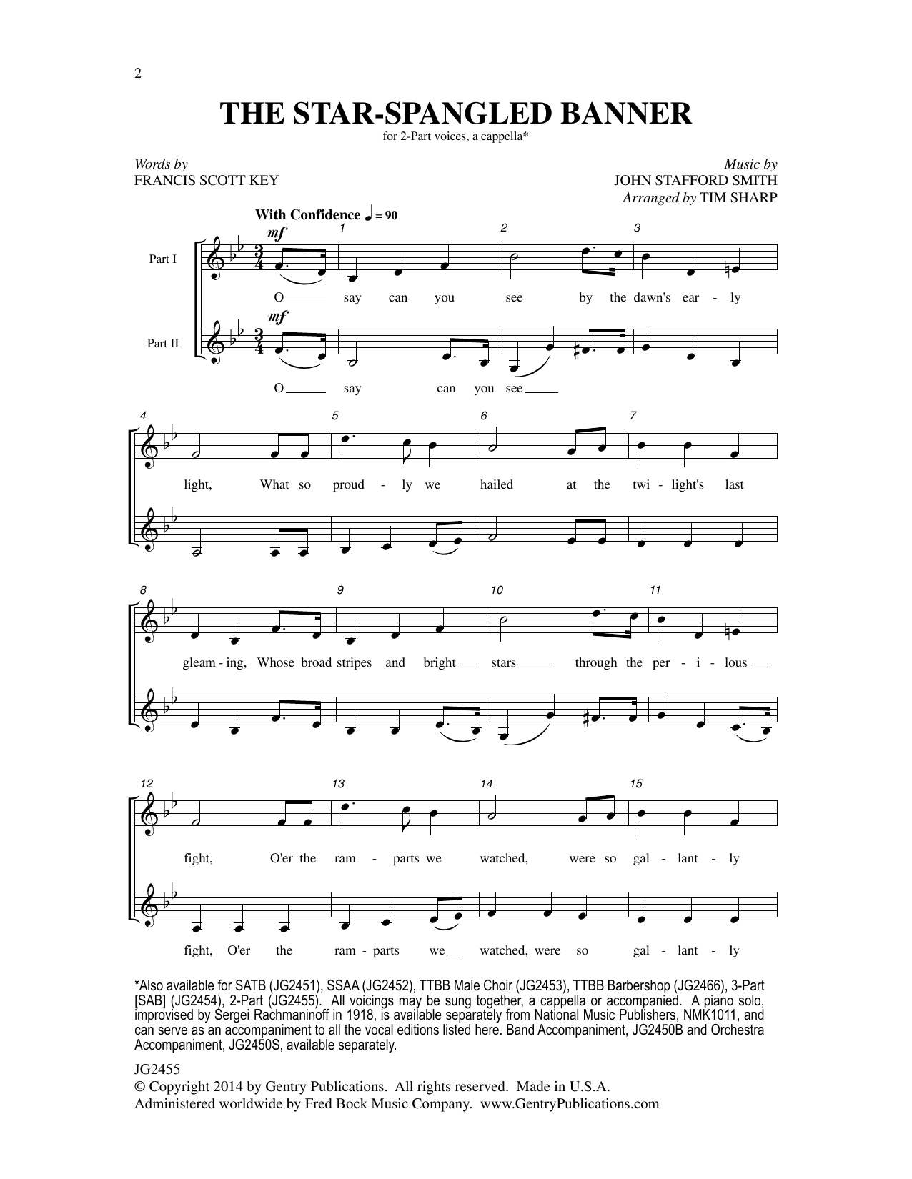 The Star Spangled Banner At Stantons Sheet Music