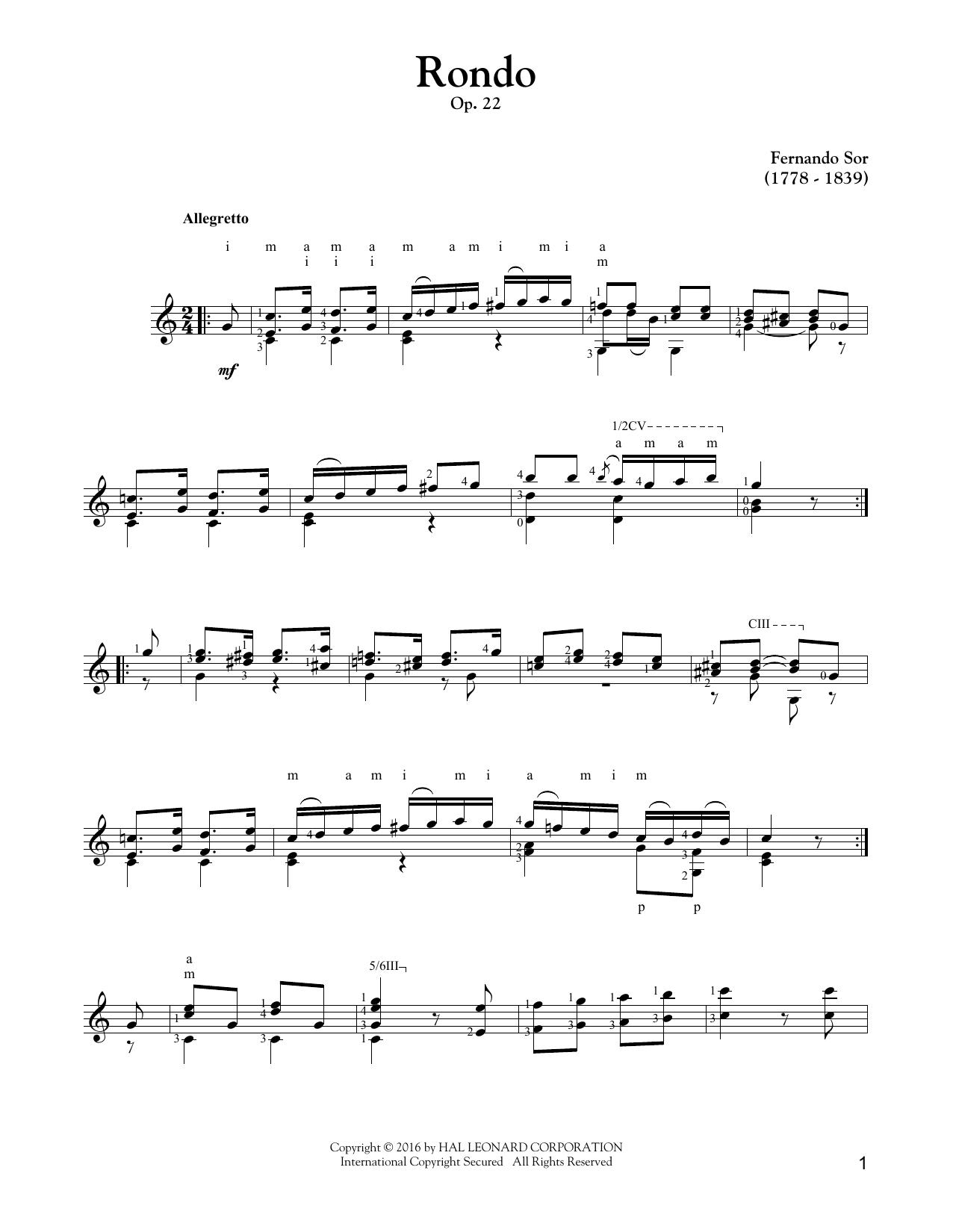 Rondo, Op. 22