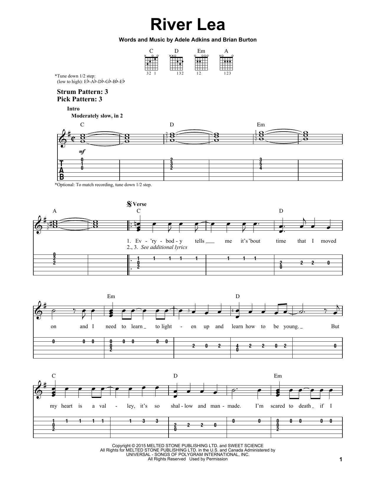 Sheet music digital files to print licensed easy guitar with tab sheet music digital by merriam music hexwebz Gallery