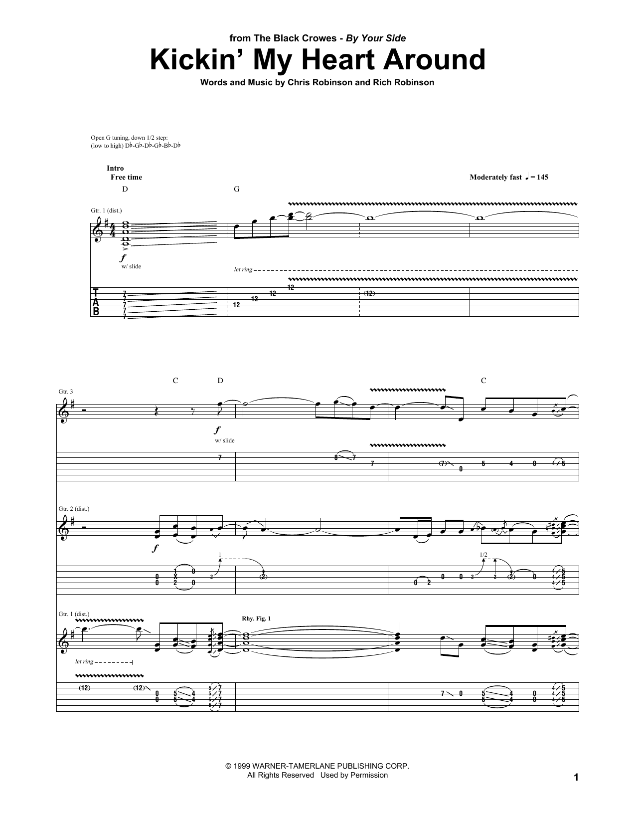 Sheet Music Digital Files To Print Licensed Black Crowes Digital