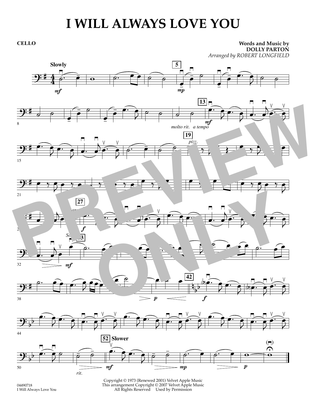 Sheet music digital files to print licensed love digital sheet music i will always love you cello hexwebz Choice Image