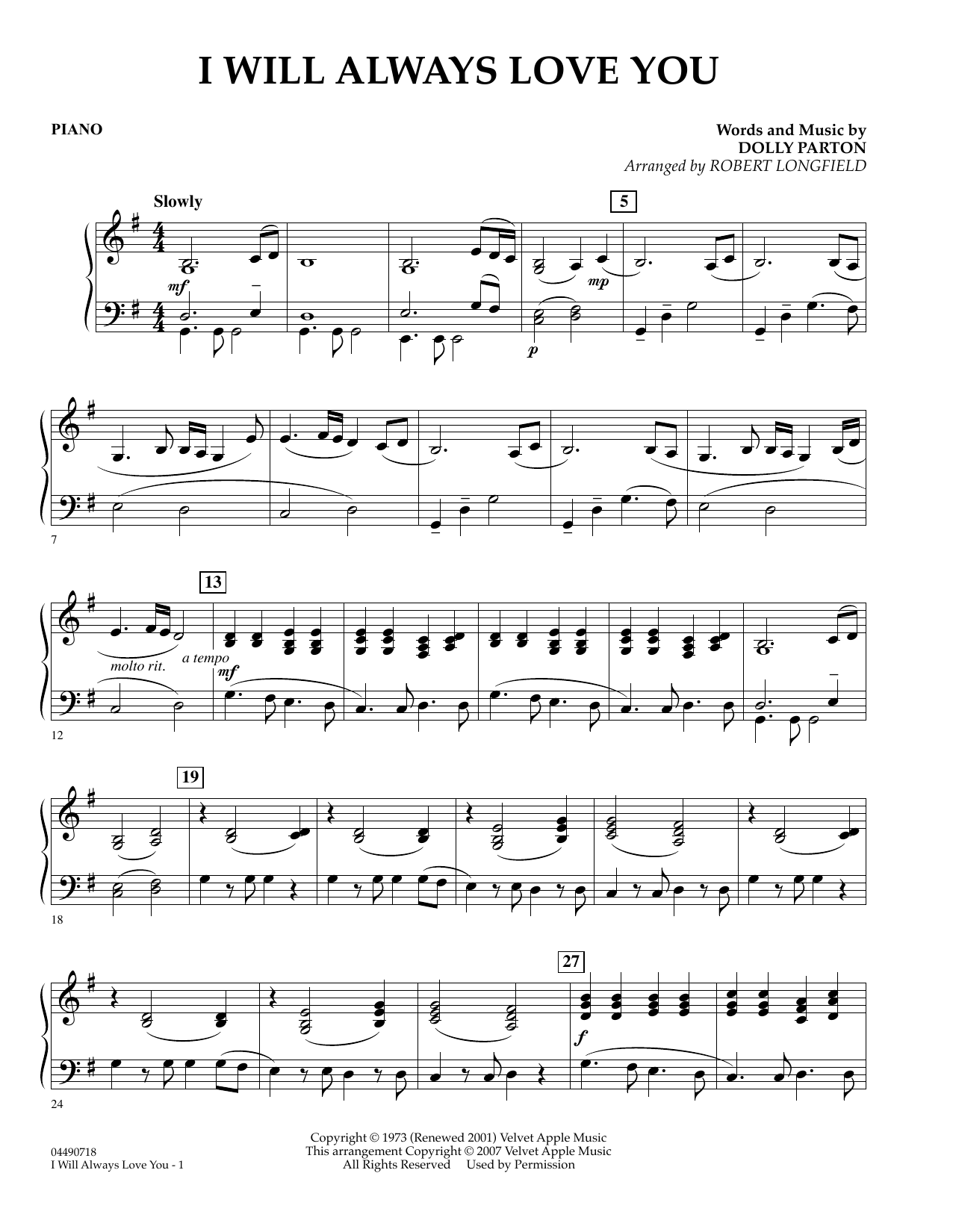 Sheet music digital files to print licensed love digital sheet music i will always love you percussion hexwebz Choice Image