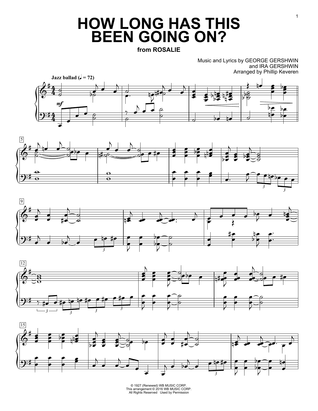 Partition piano How Long Has This Been Going On? de Phillip Keveren - Piano Solo