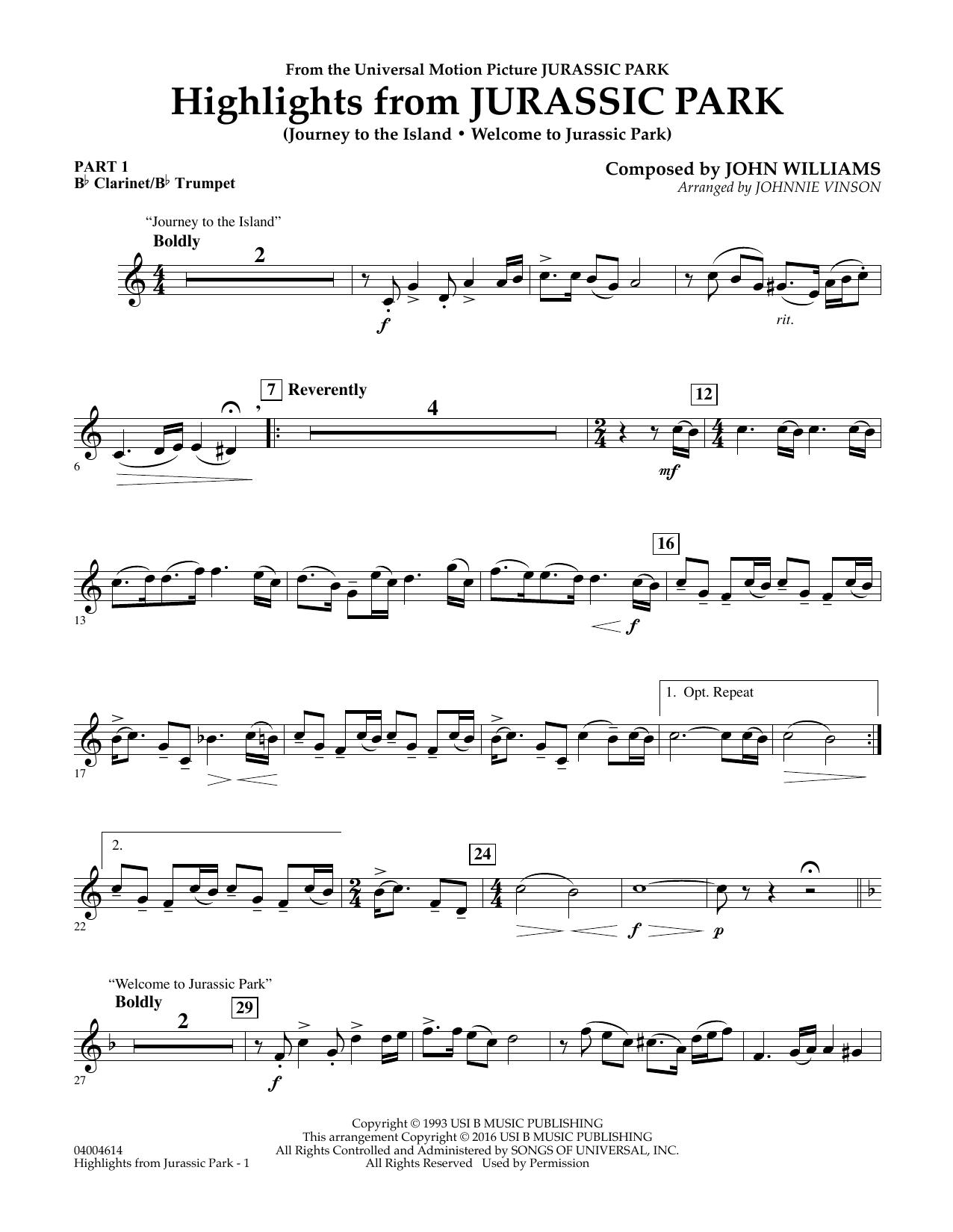 jurassic park sheet music trumpet