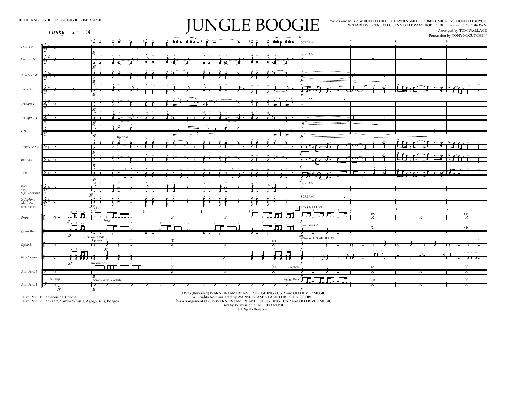 Kool & The Gang - Jungle Boogie - Full Score