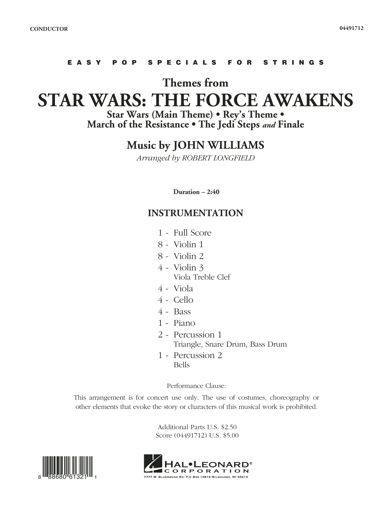 John Williams - Themes from Star Wars: The Force Awakens - Conductor Score (Full Score)