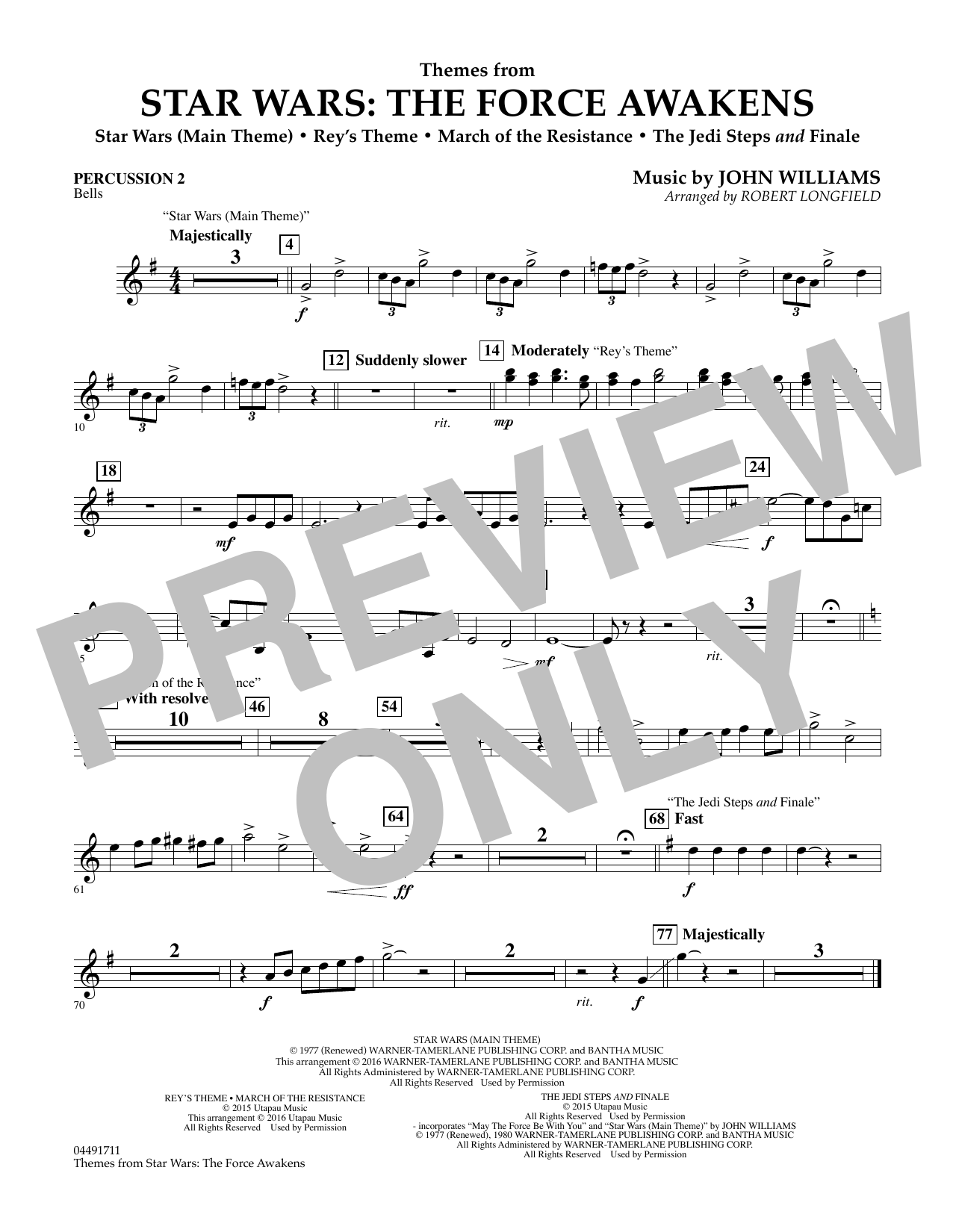 John Williams - Themes from Star Wars: The Force Awakens - Percussion 2