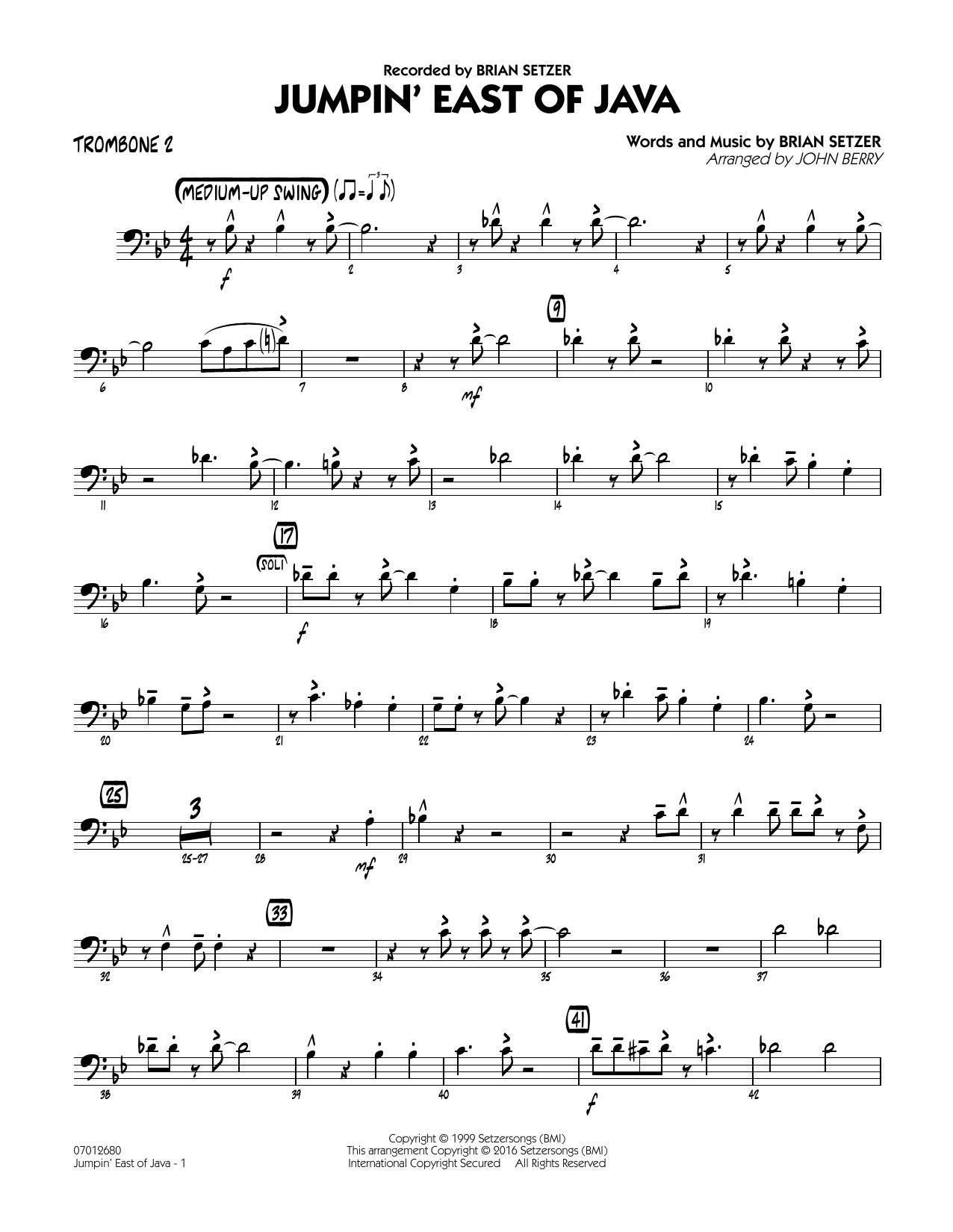 Brian Setzer - Jumpin' East of Java - Trombone 2