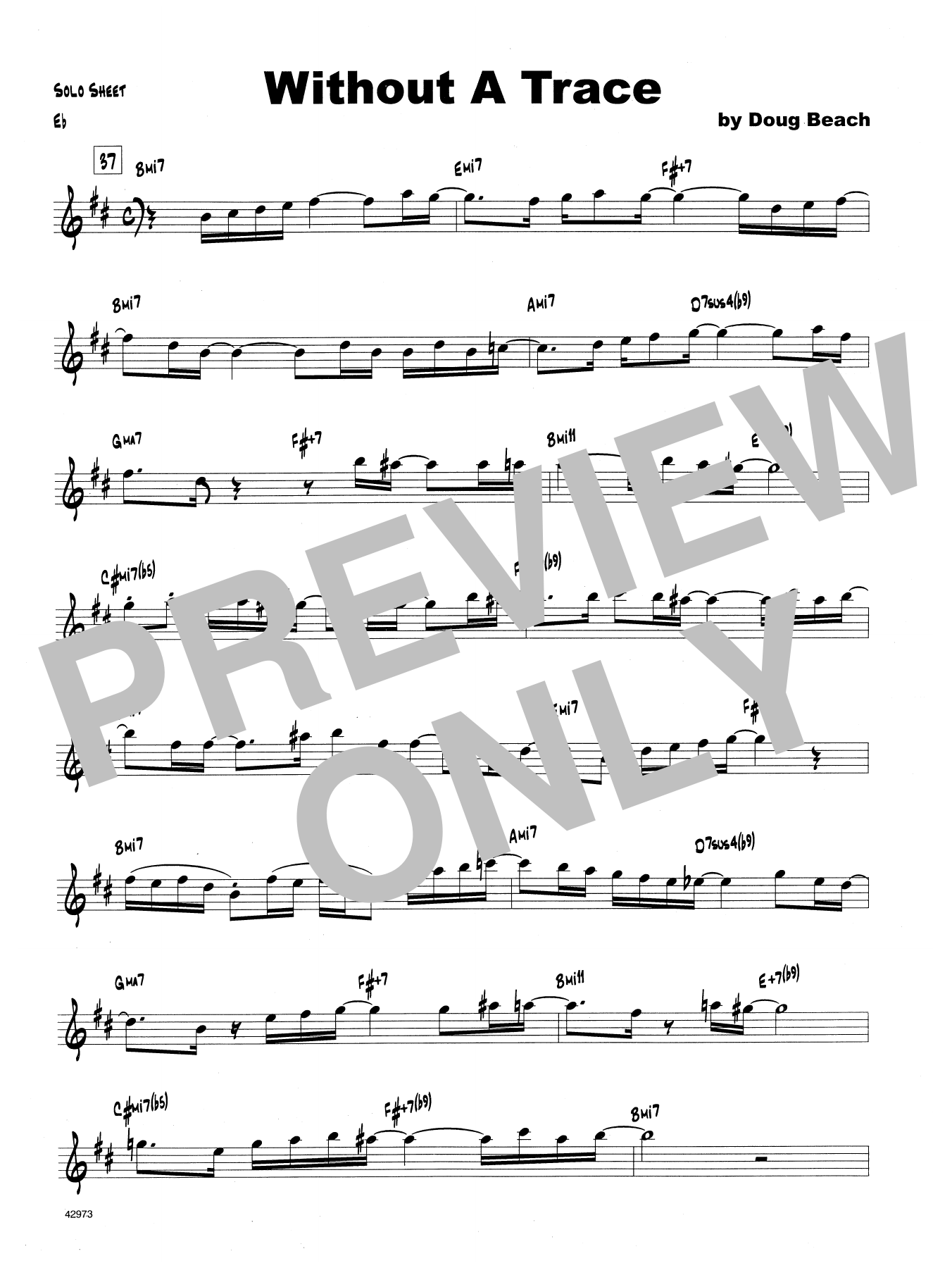 Without A Trace - Solo Sheet - Trombone