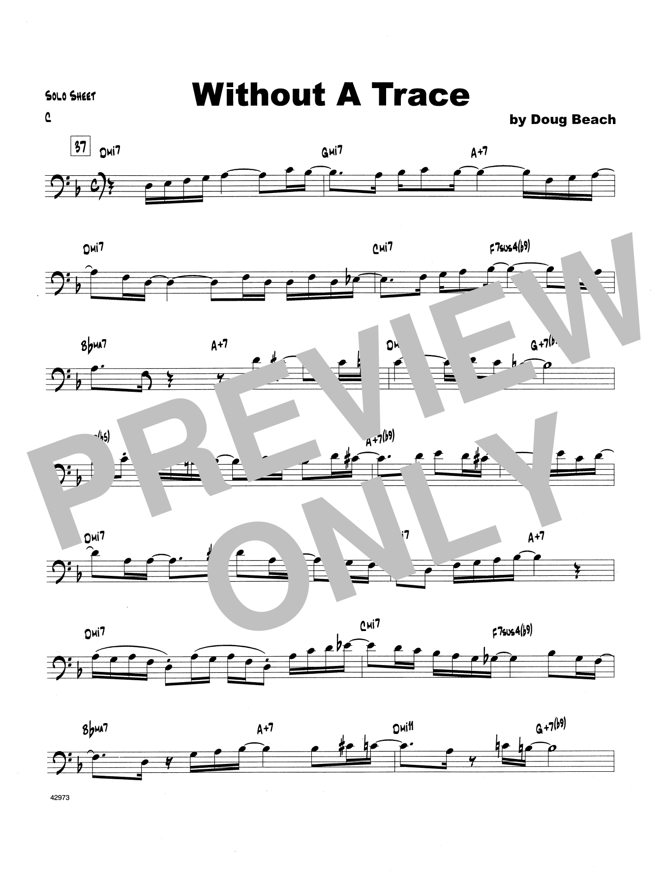 Without A Trace - Trombone Solo