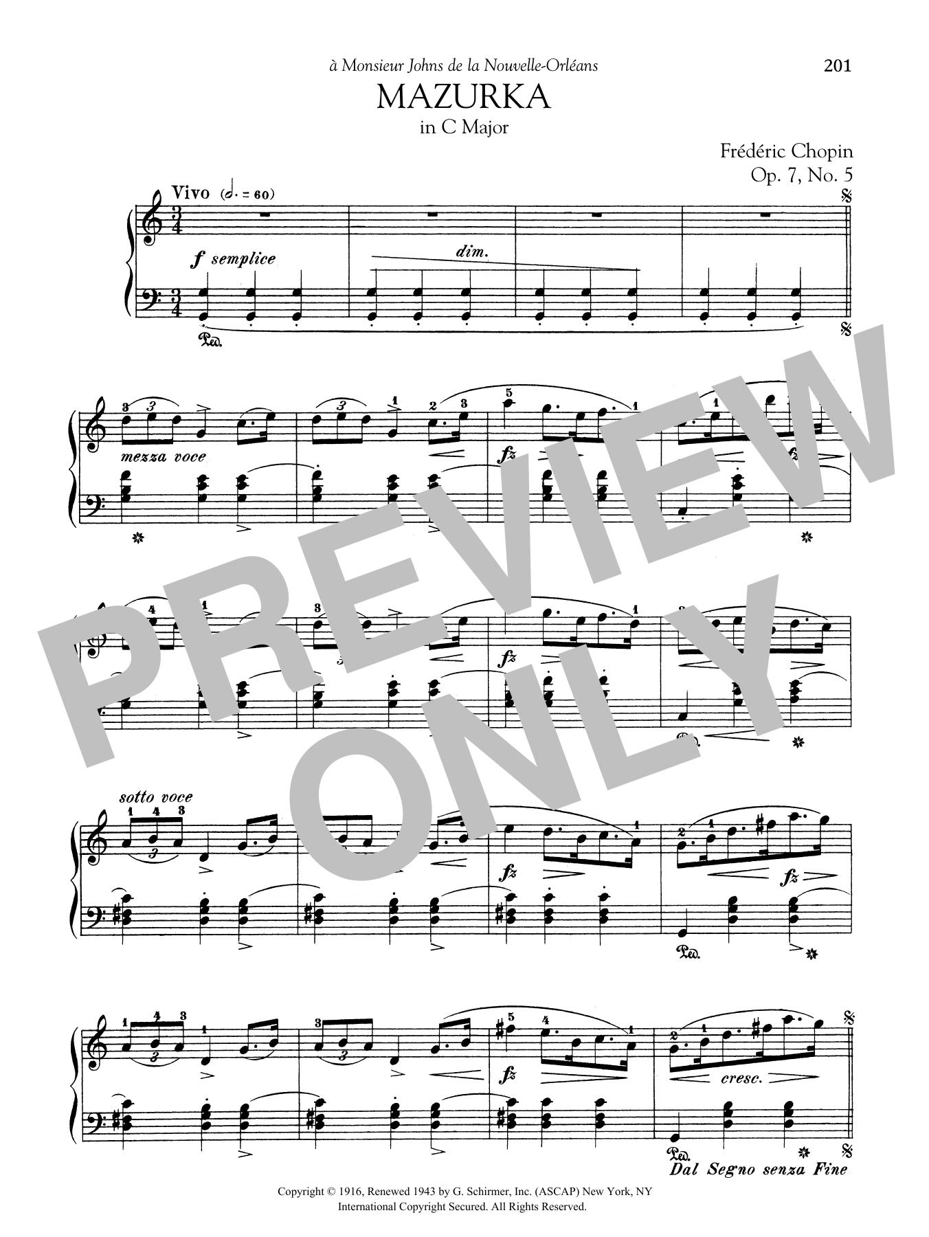 chopin mazurka op 7 no 1