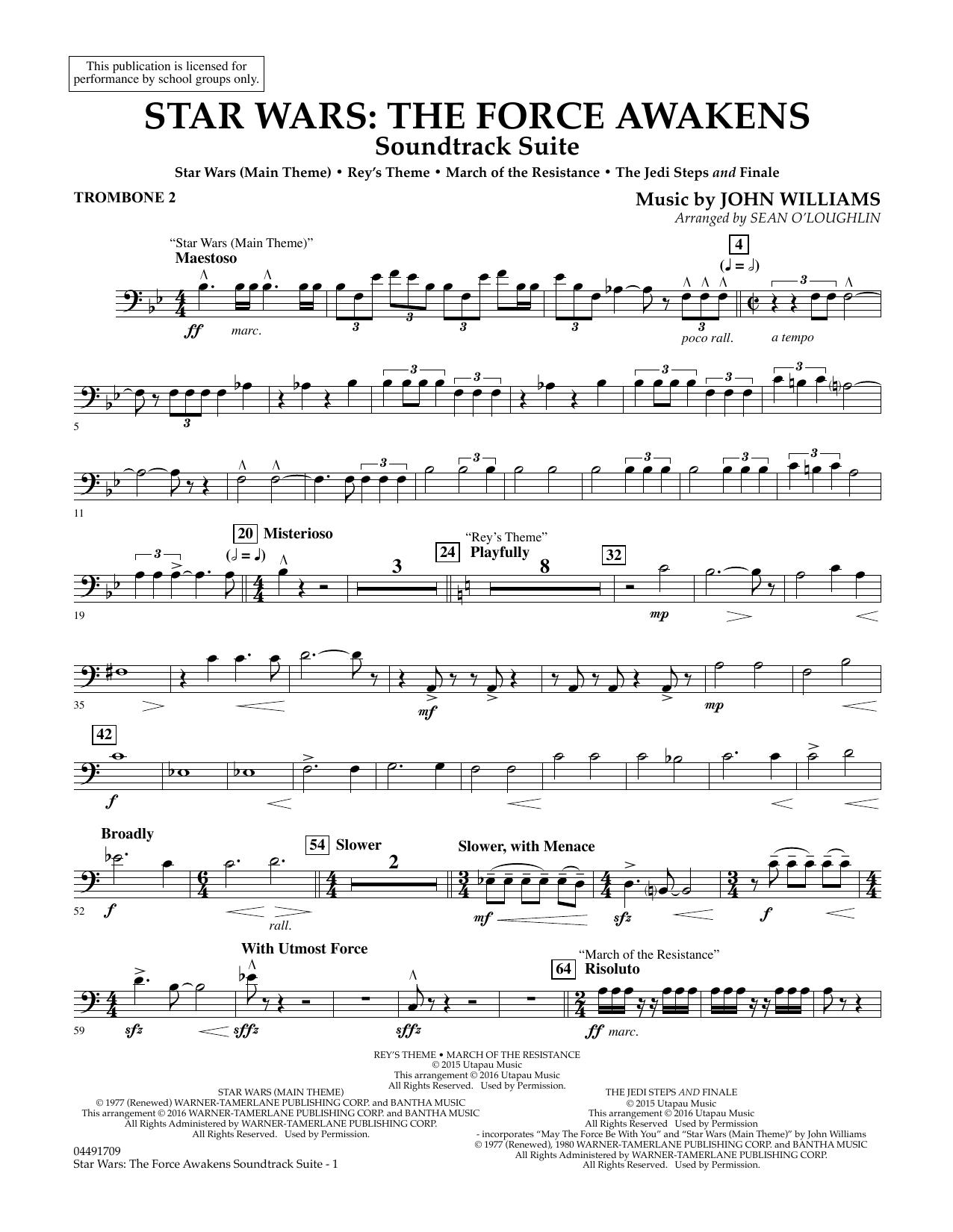 John Williams - Star Wars: The Force Awakens Soundtrack Suite - Trombone 2