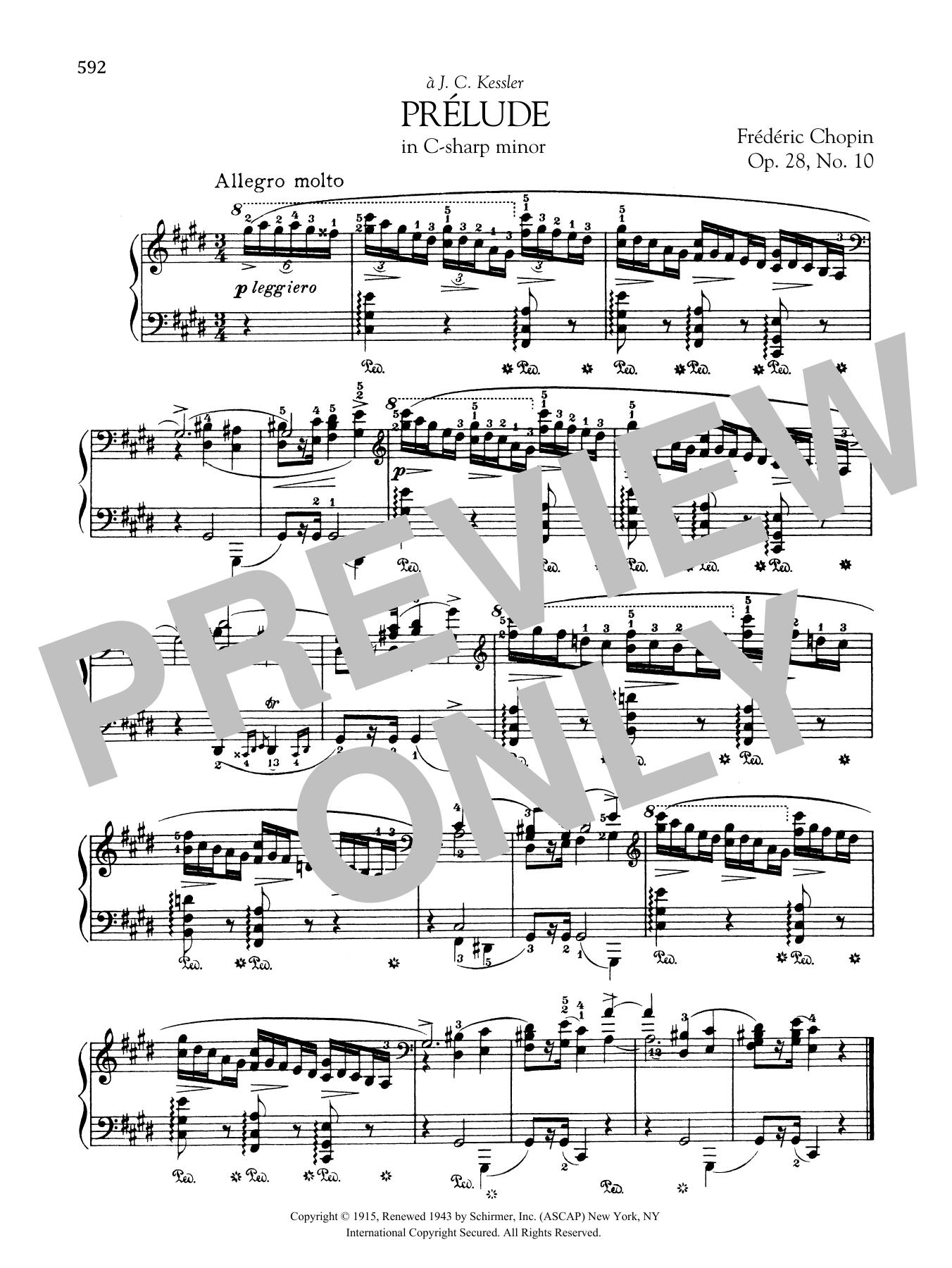 Prélude in C-sharp minor, Op. 28, No. 10
