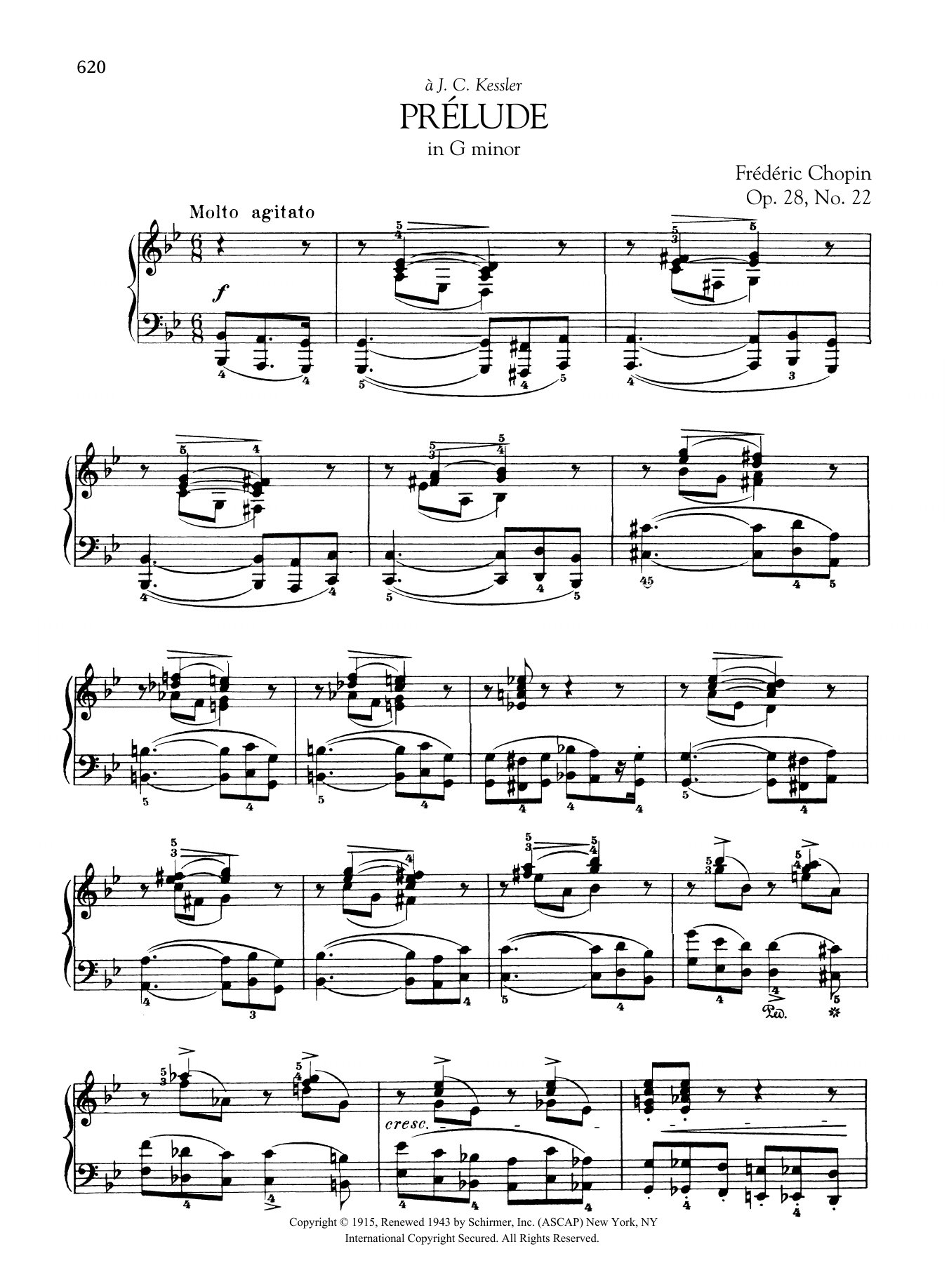 Prélude in G minor, Op. 28, No. 22