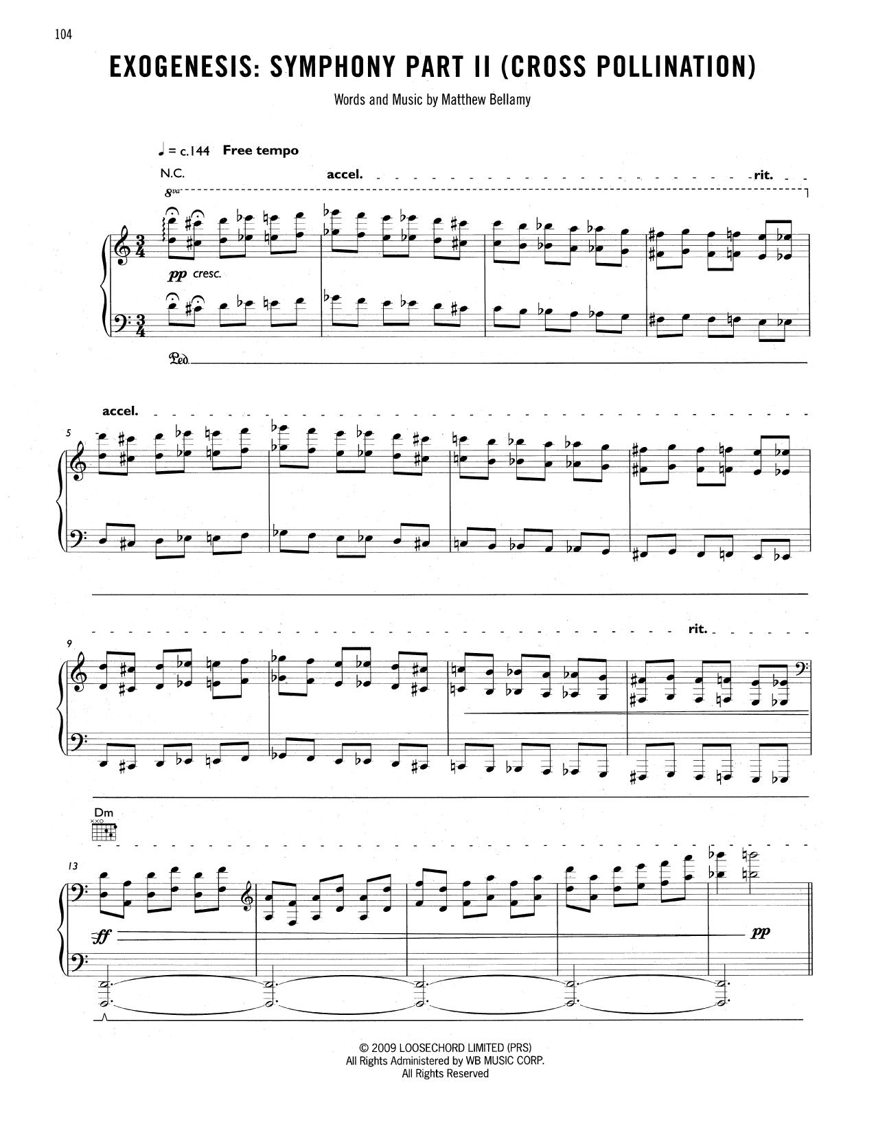 Tablature guitare Exogenesis de Muse - Tablature Guitare